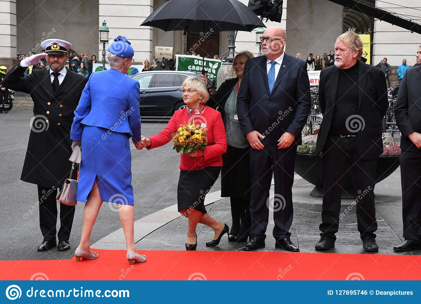 DANISH ROYAL FAMILY ARRIVES AT PARLIAMENT OPENING  Editorial Photo