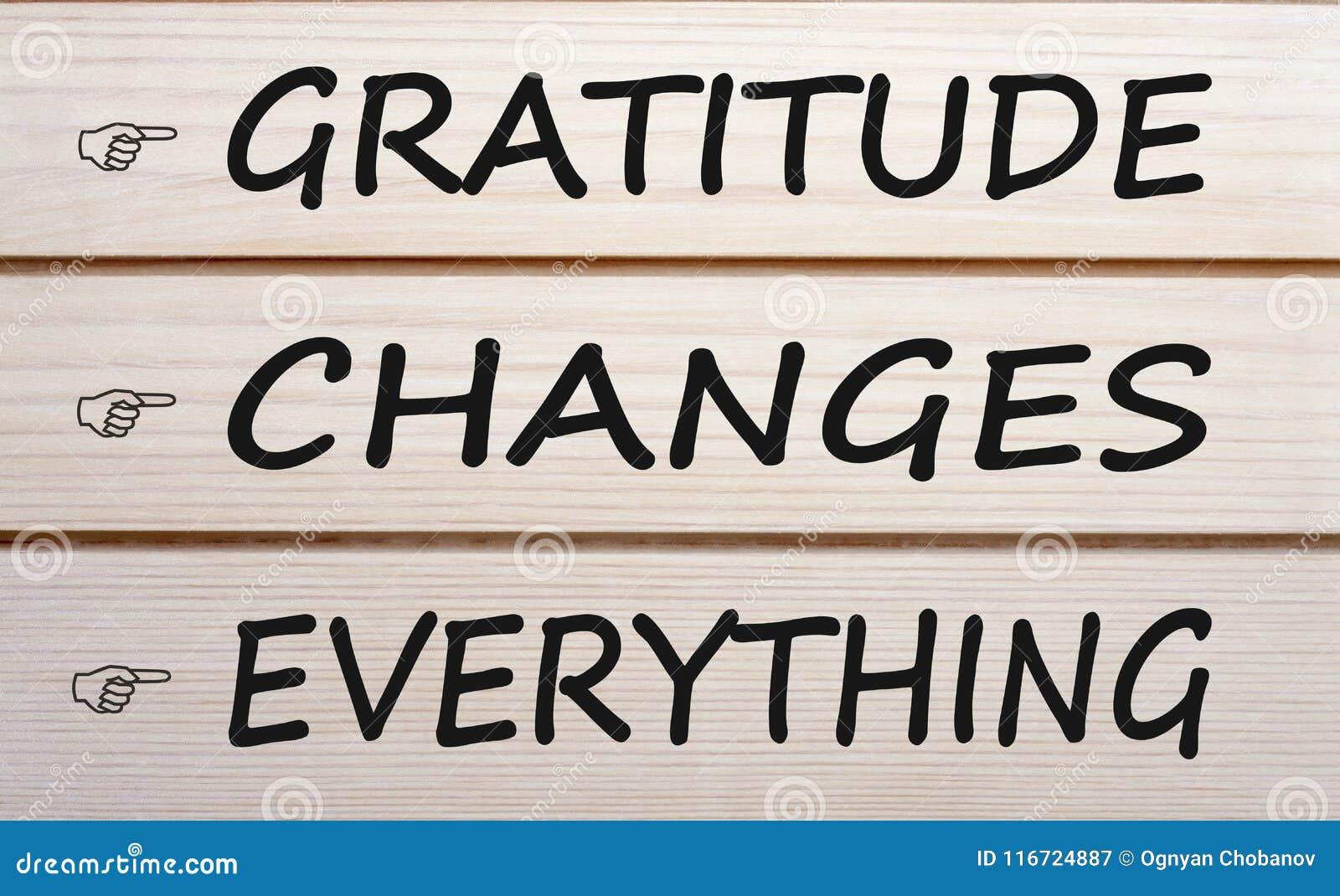 Dankbarkeit ändert alles