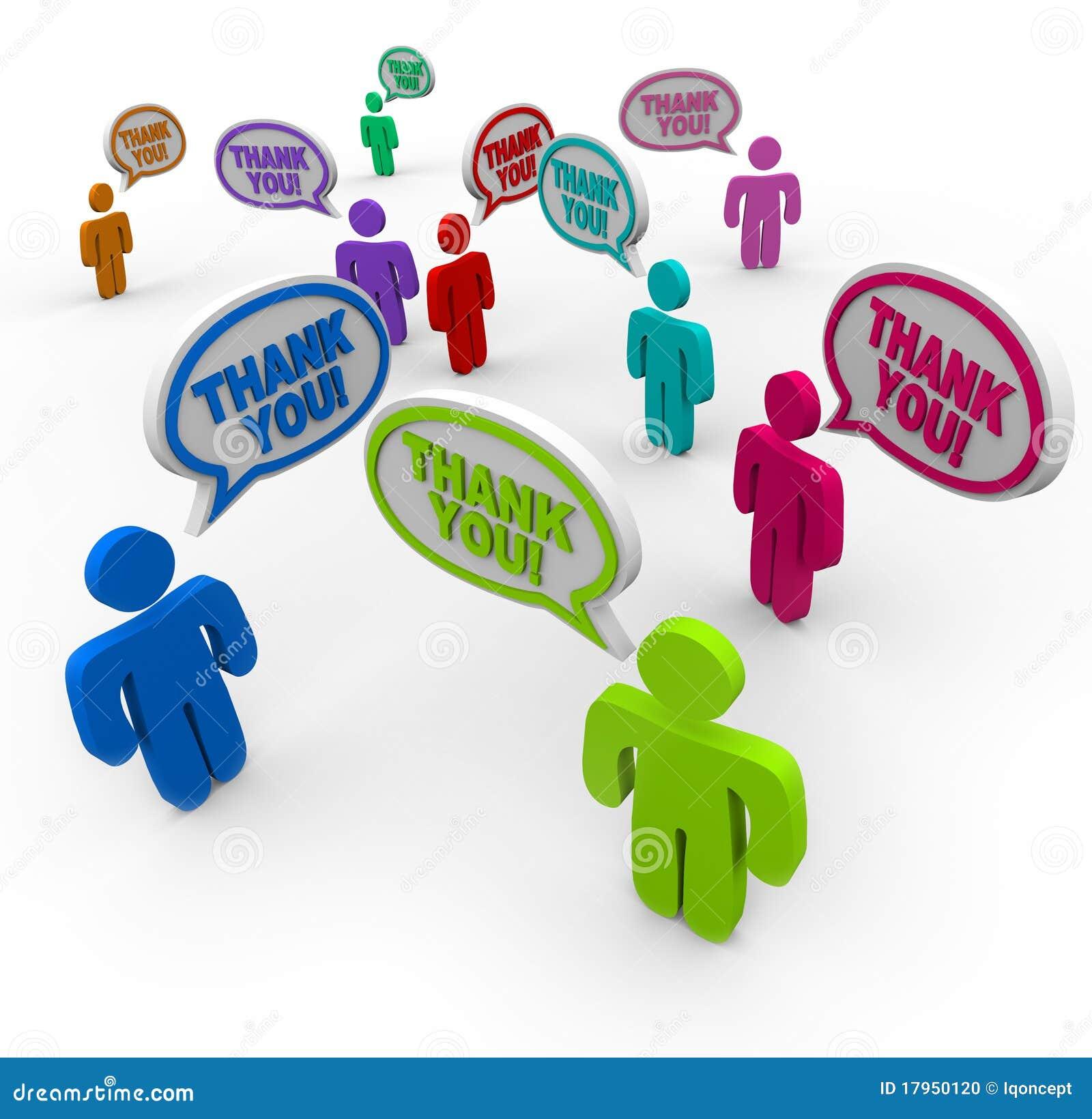 Danke - anerkennende Leute danken sich