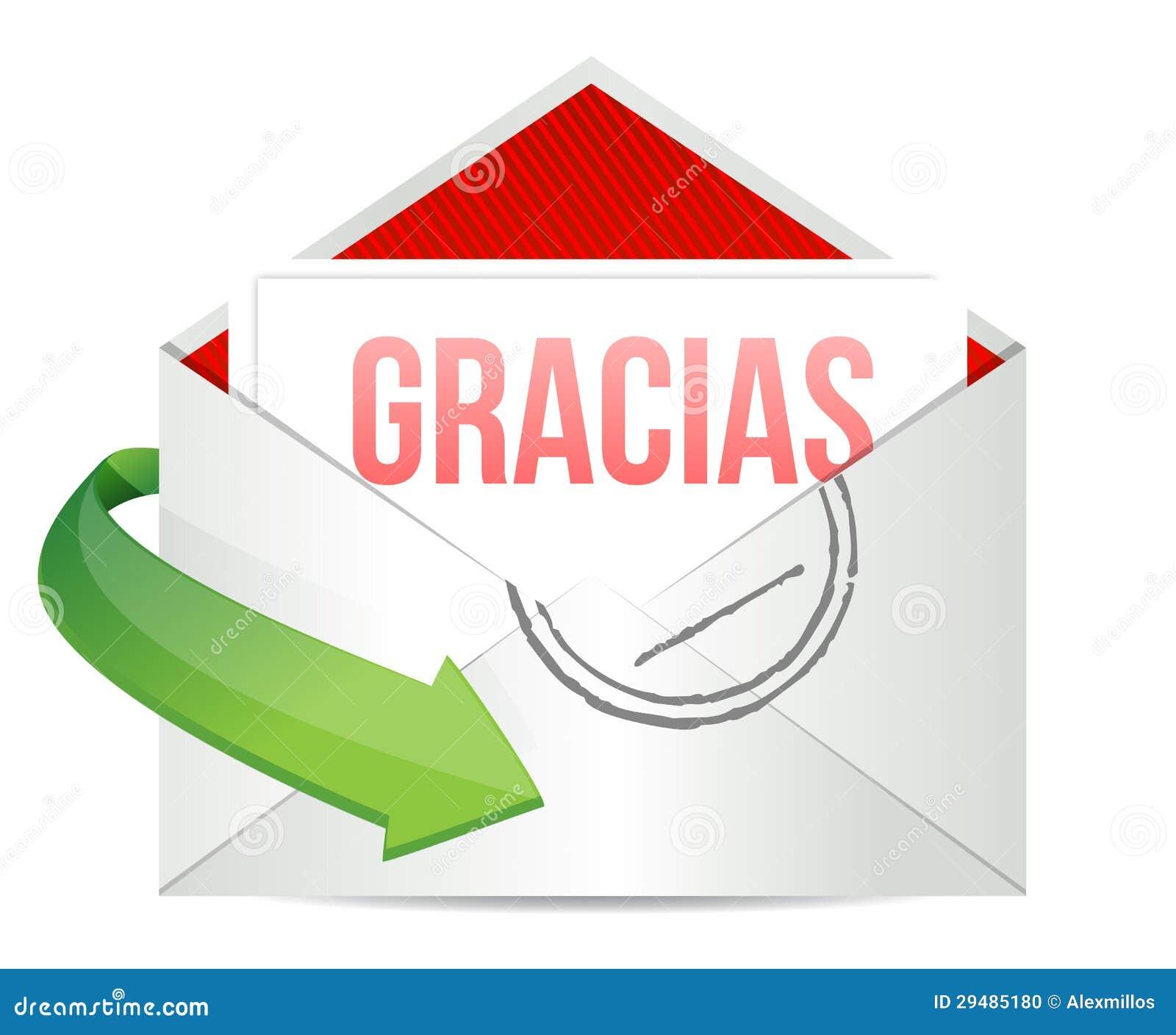 danke dankbarkeitskartenumschlag auf spanisch stockfoto bild 29485180 On danke auf spanisch
