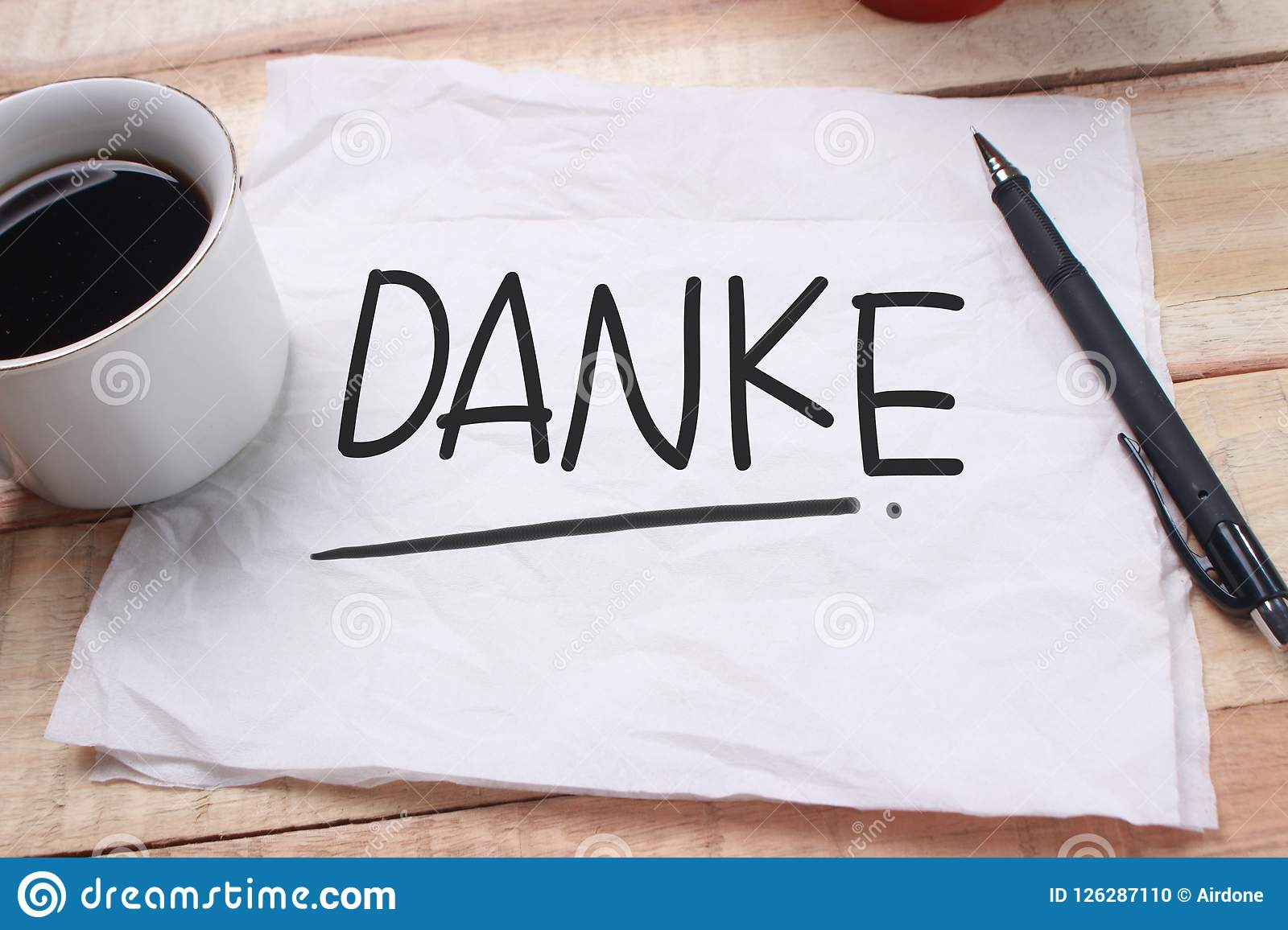 danke motivational words quotes concept stock photo image of