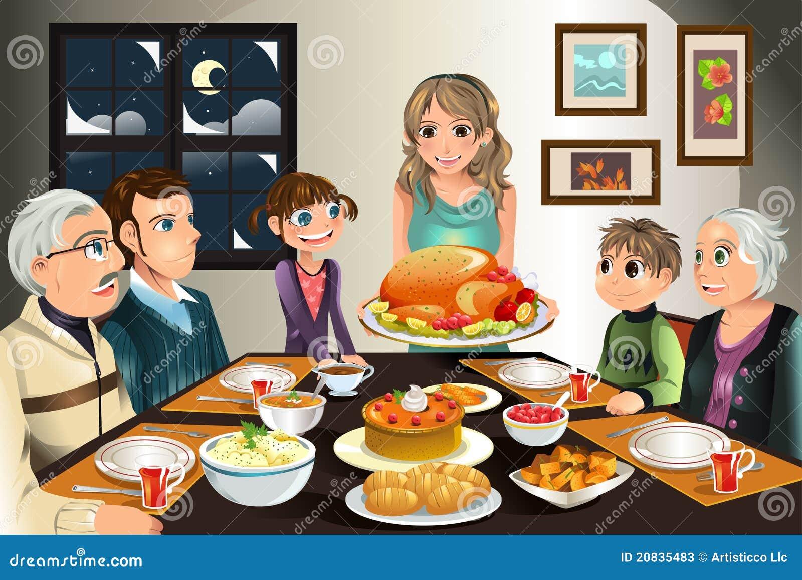 Danksagungsfamilienabendessen