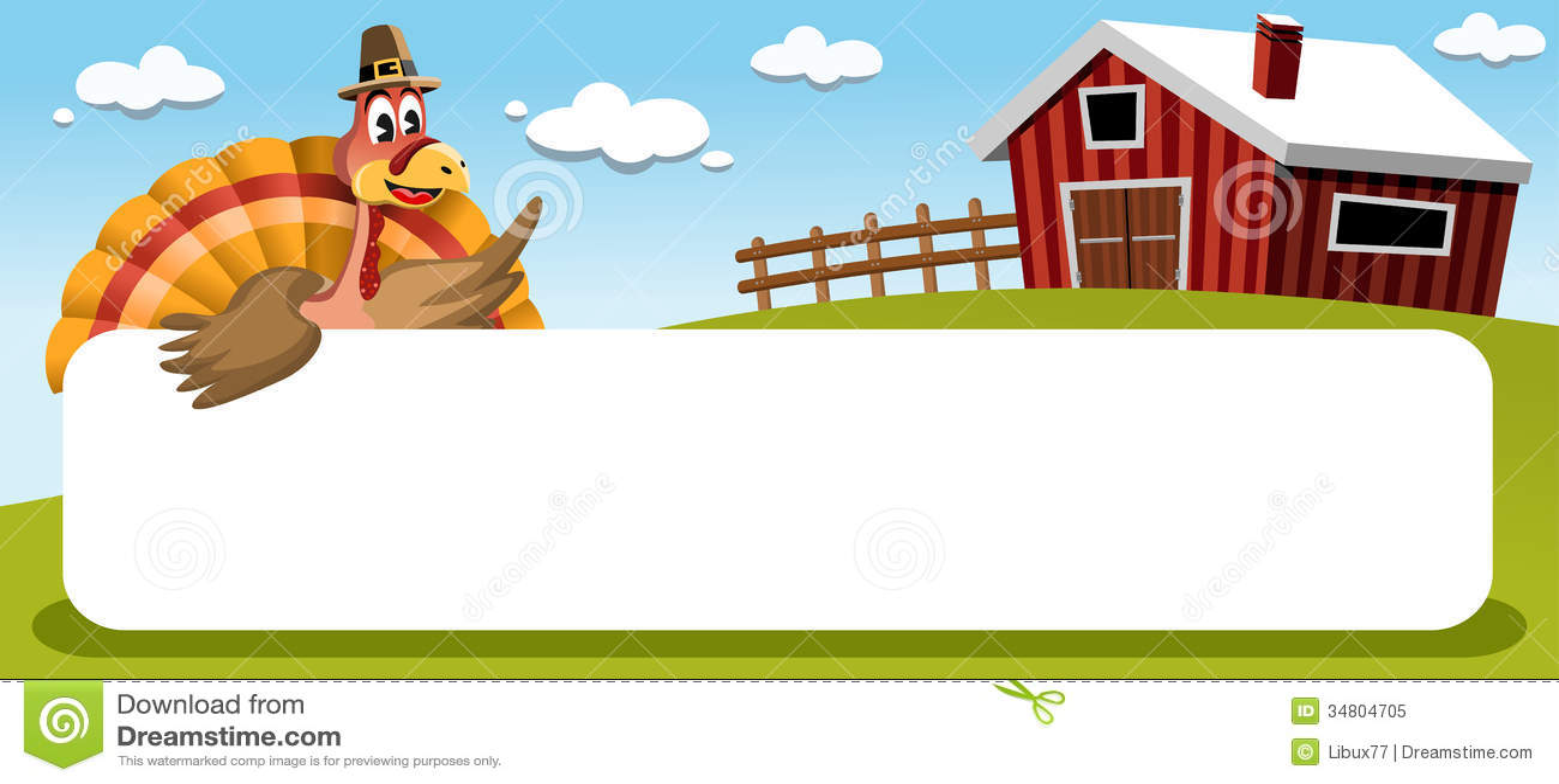 Dankzegging Turkije met Banner in Landbouwgrond