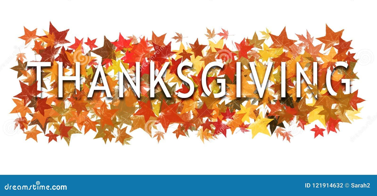 Dankzeggingstekst, woord binnen verpakt en gelaagd met herfstbladeren Geïsoleerd op wit