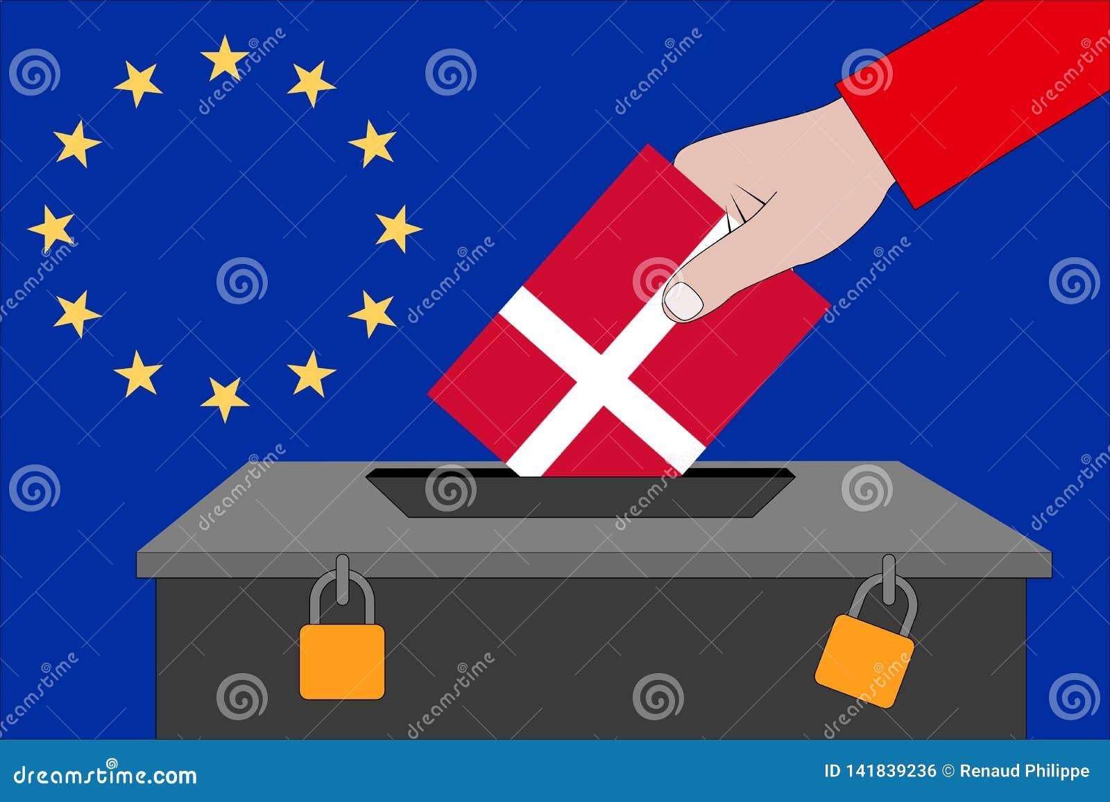 Danmark valurna för de europeiska valen