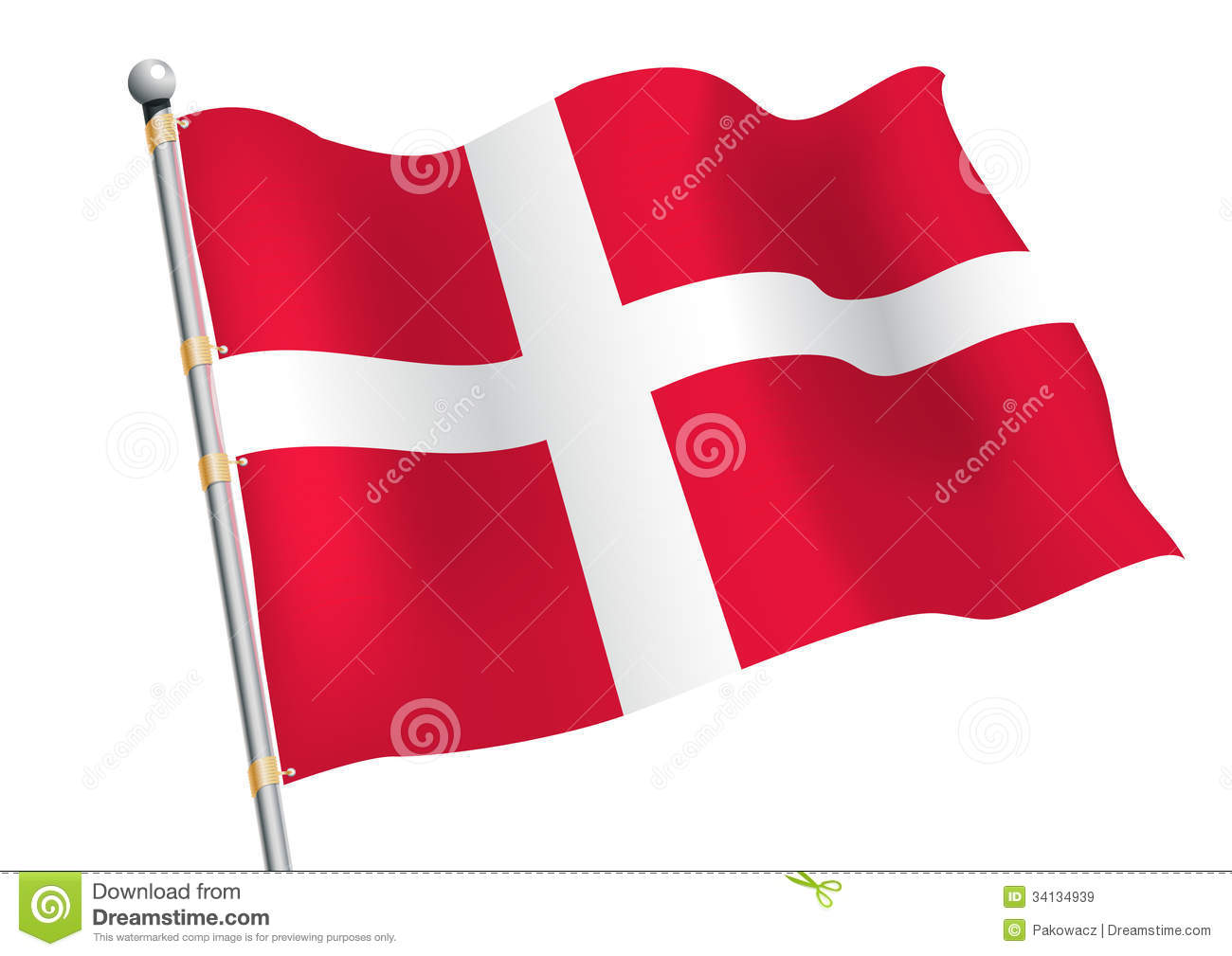 Patriotism >> Dannebrog Royalty Free Stock Images - Image: 34134939