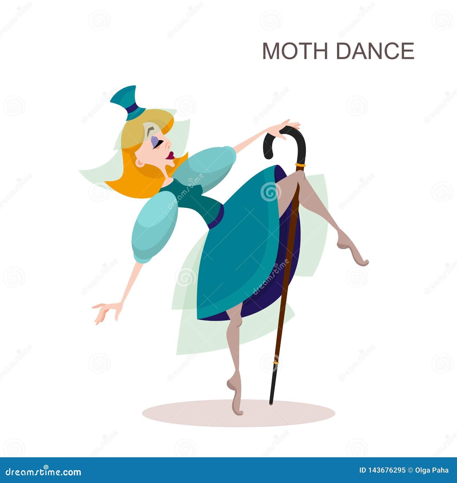 Dans för ung kvinna med rottingen