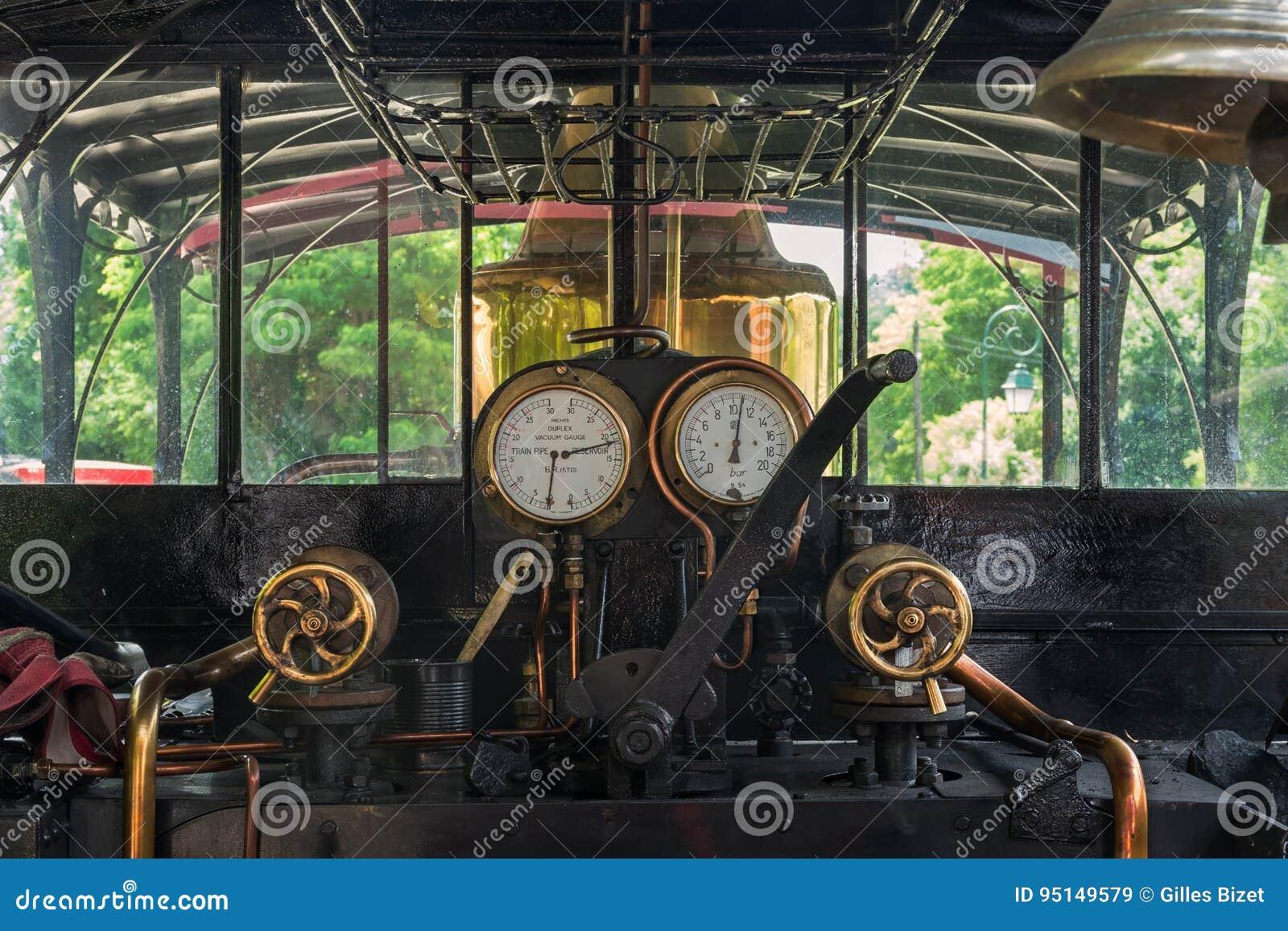 Dans la locomotive à vapeur
