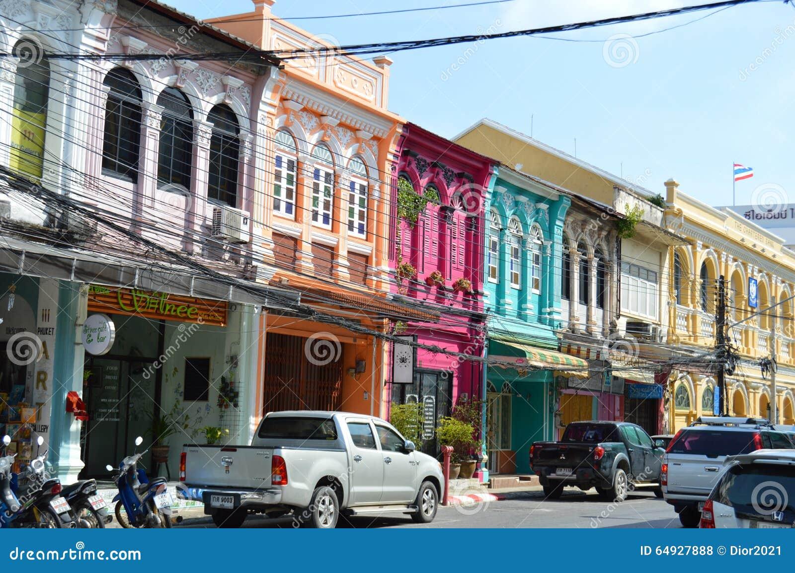 Dans la vieille ville de phuket de ville photo stock for Piscine des 3 villes hem