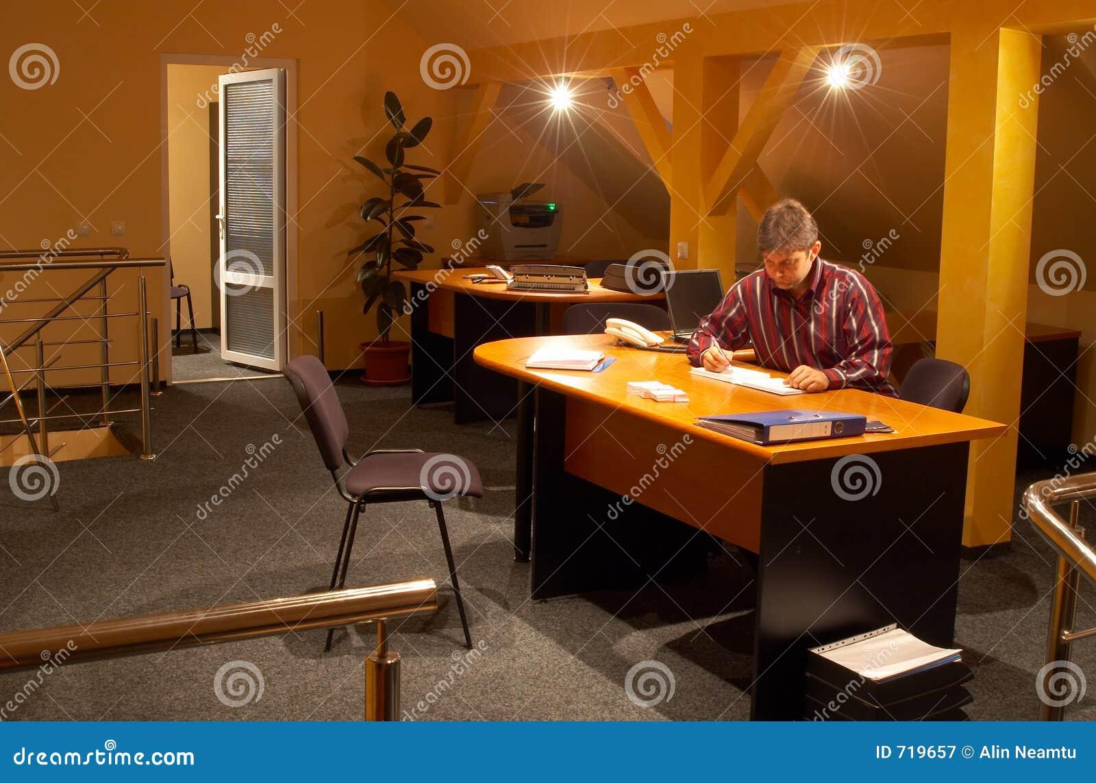 Dans le bureau