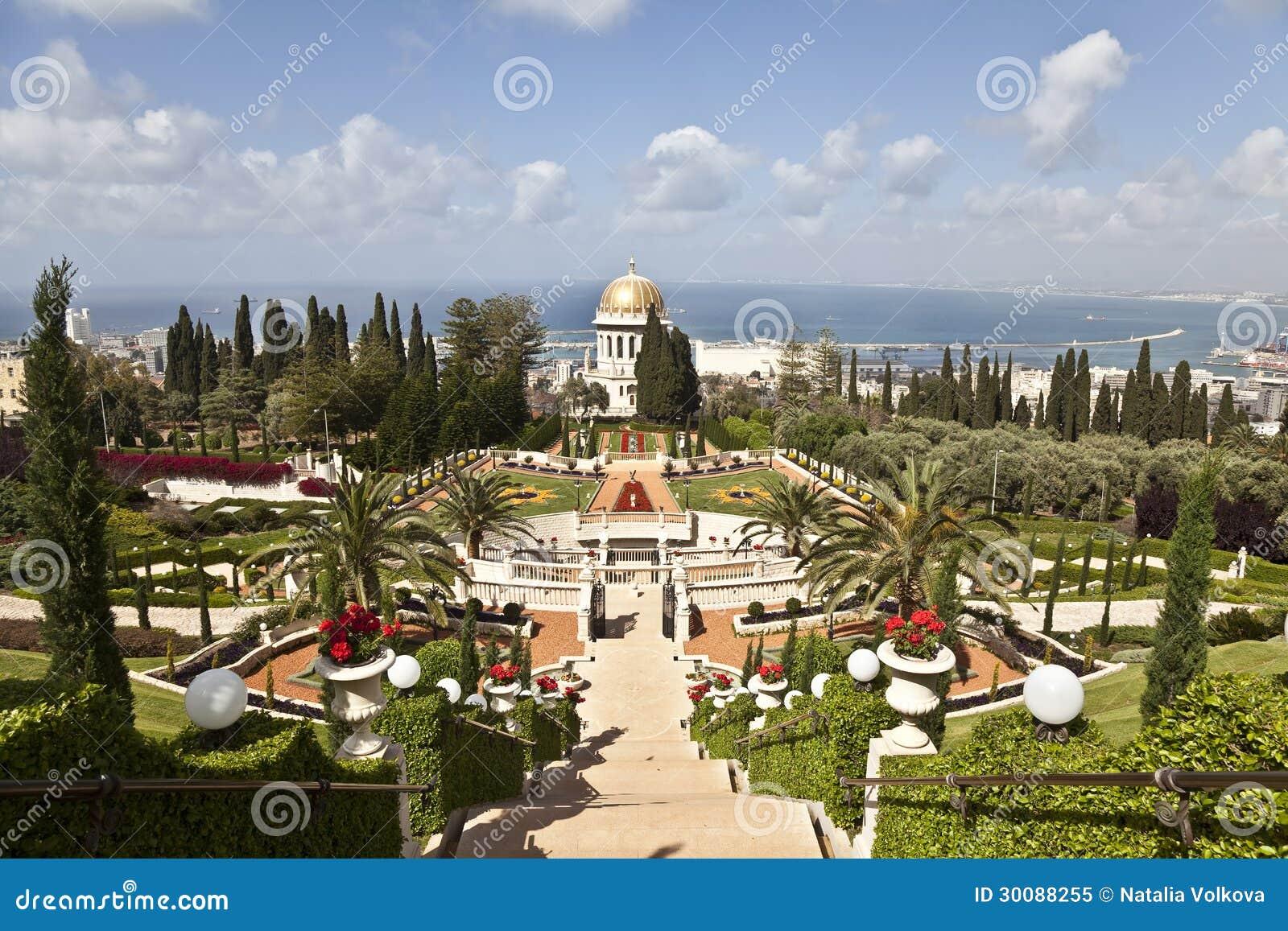 Jardins de bahai ha fa isra l photo libre de droits for Les jardins de la ville