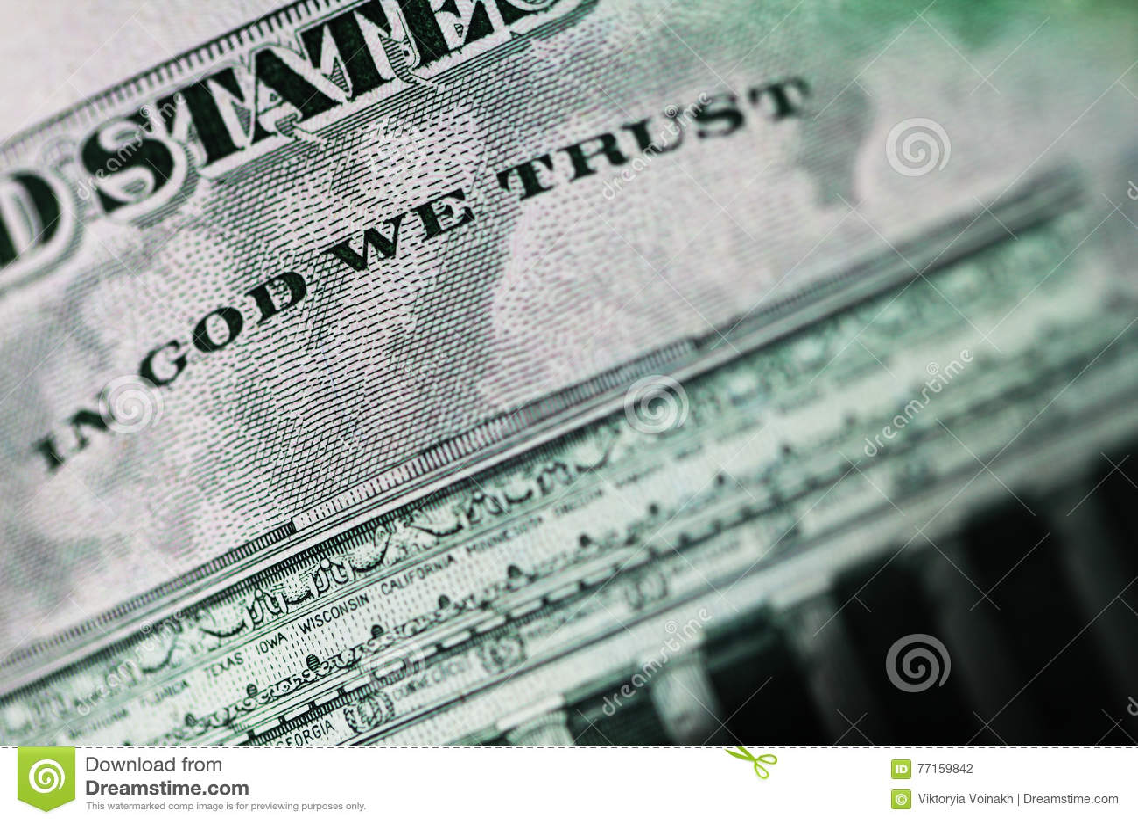 Dans un dieu nous faisons confiance