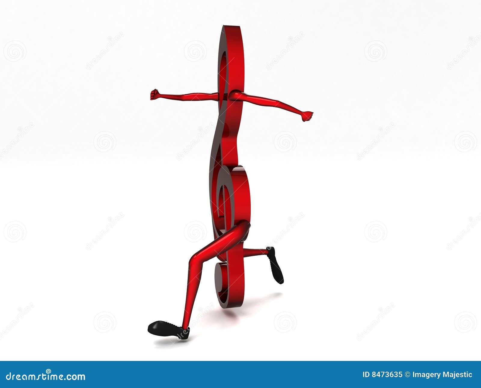 Dansa dimensionell musikalisk anmärkning tre