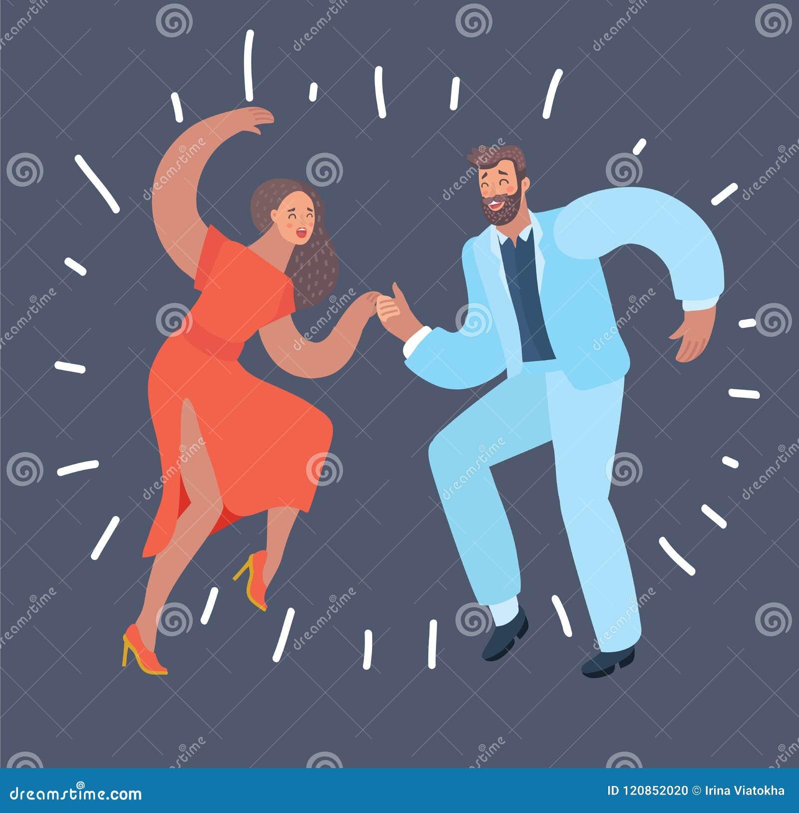 Dansa par på mörk bakgrund