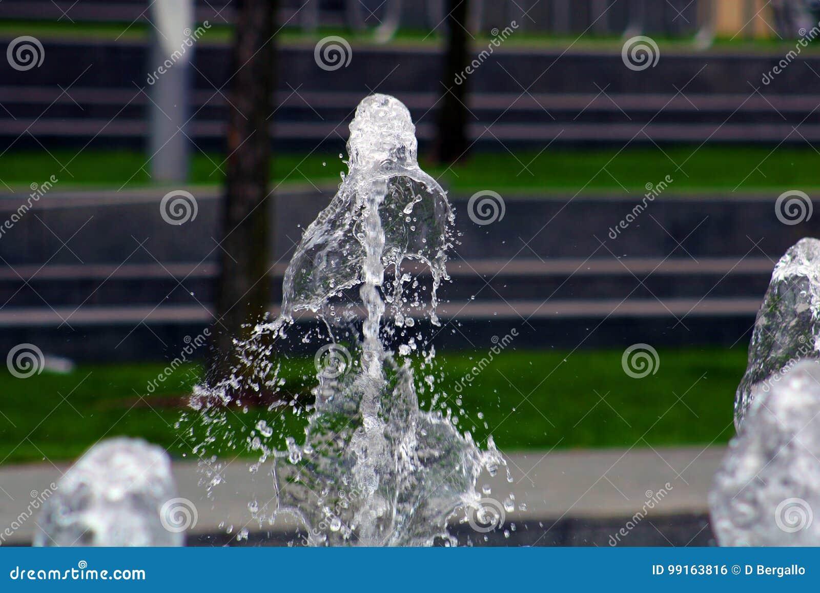 Dansa vatten på parkera