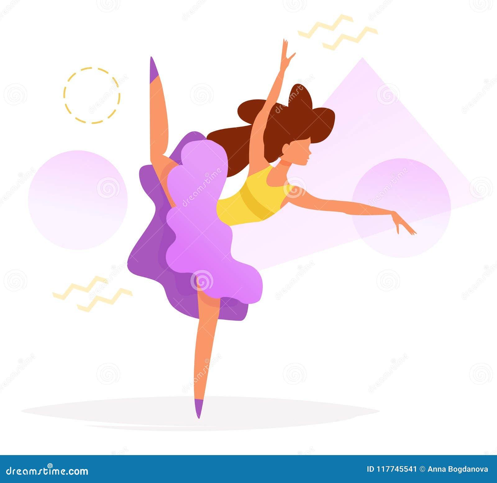 Dansare Vector cartoon