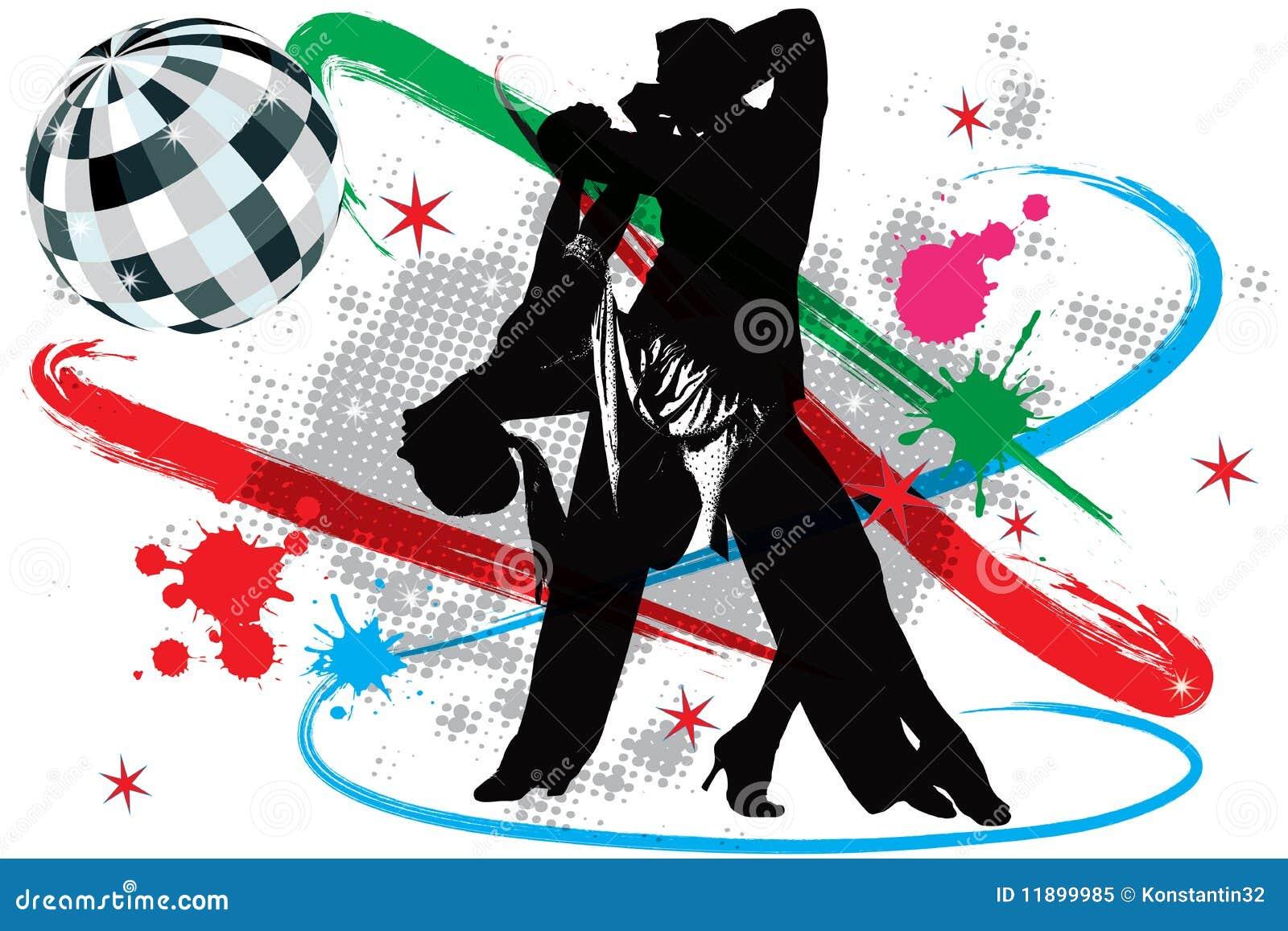 Dansarediskoillustration