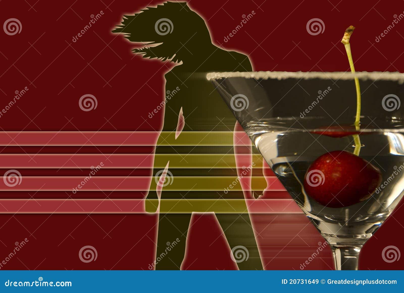 Dansbildmartini kvinna