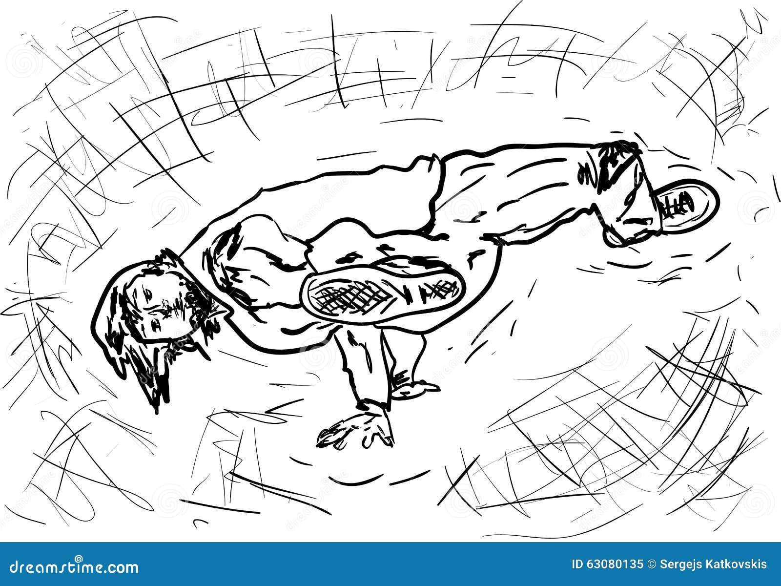 Download Danse illustration stock. Illustration du élégance, personne - 63080135