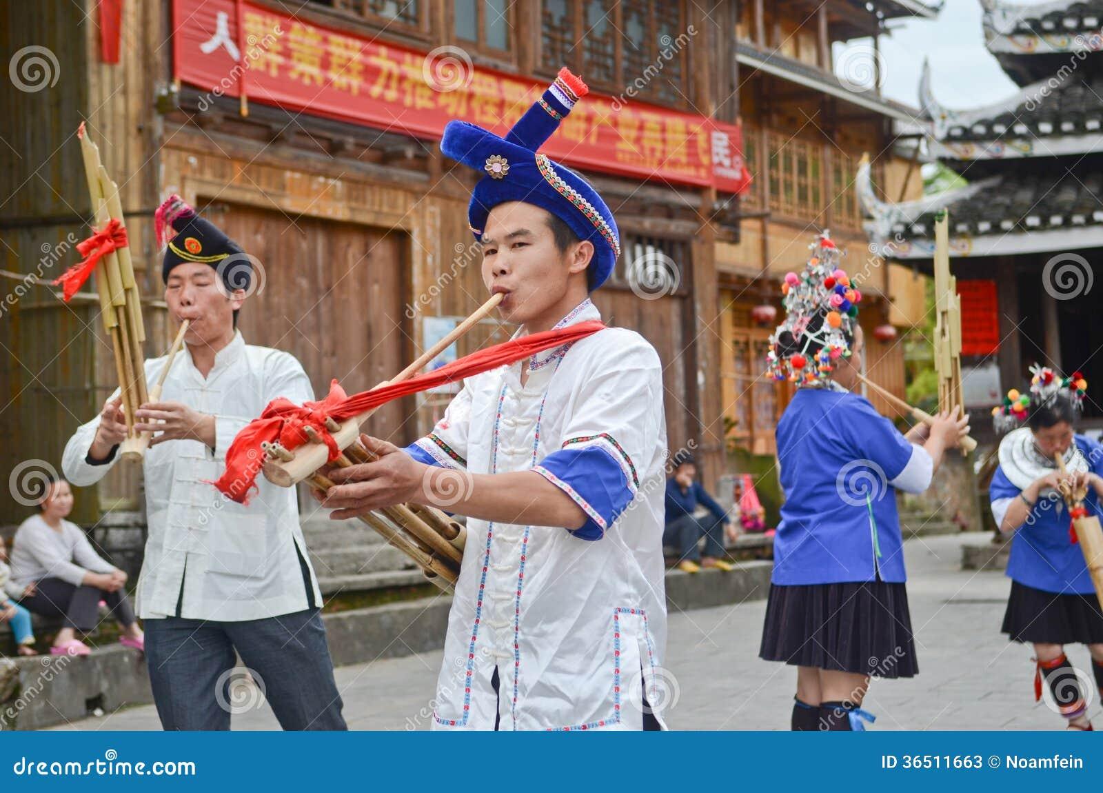 Danse chinoise de poeople de minorité