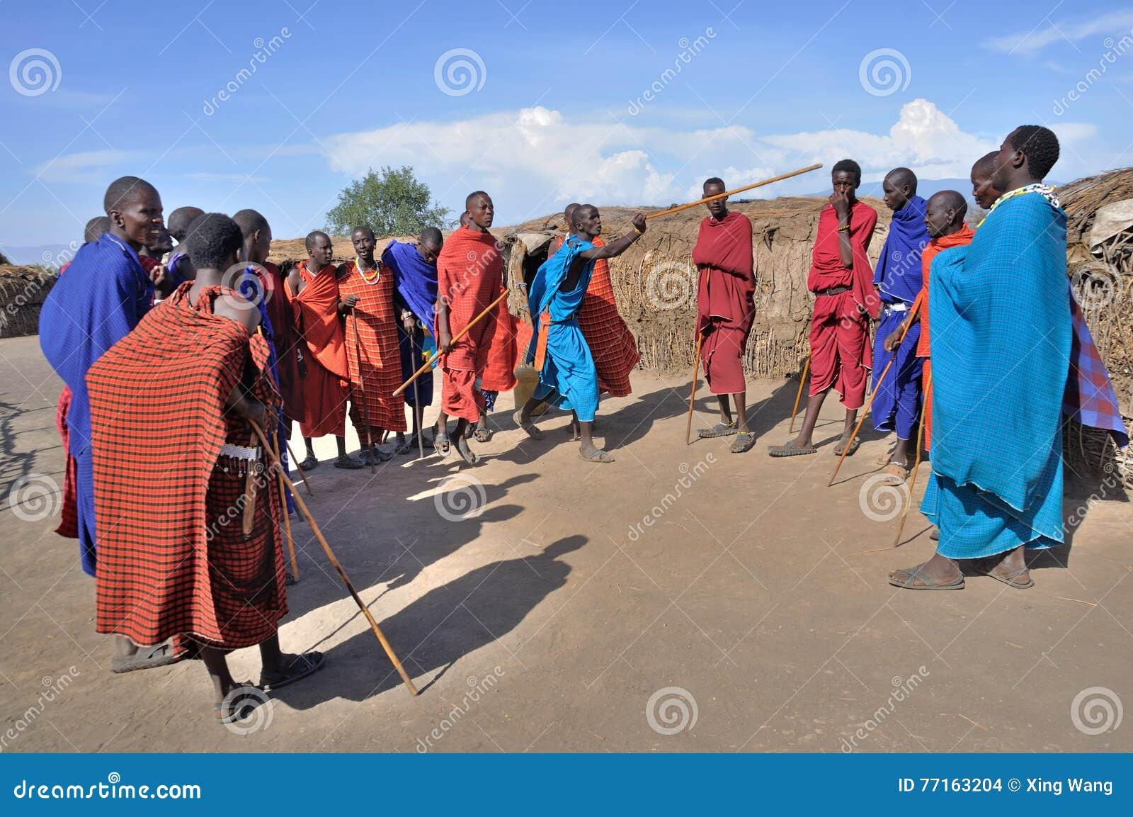 Danse traditionnelle de Maasai