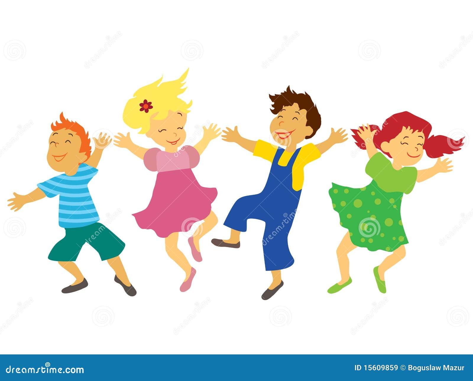 Танцы дети рисунок