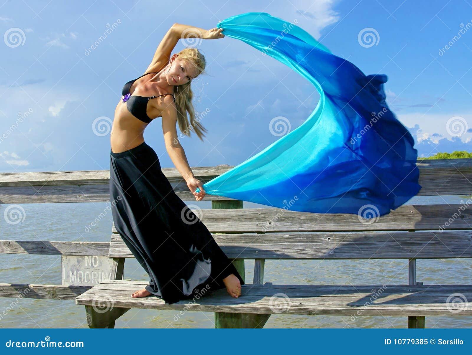 Danser in de wind