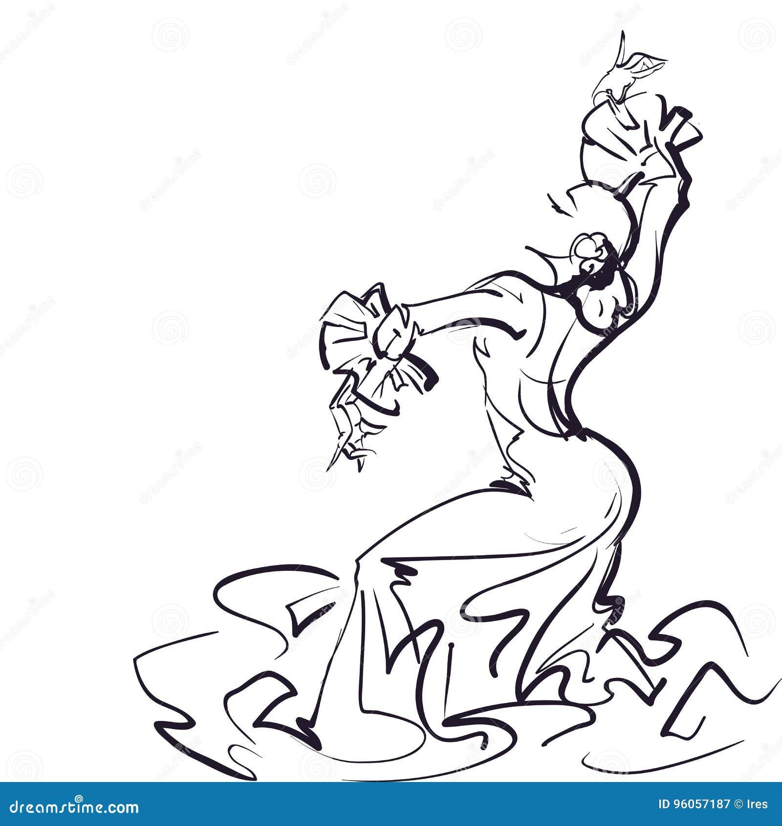 Danseur de flamenco dans la pose impressionnante expressive