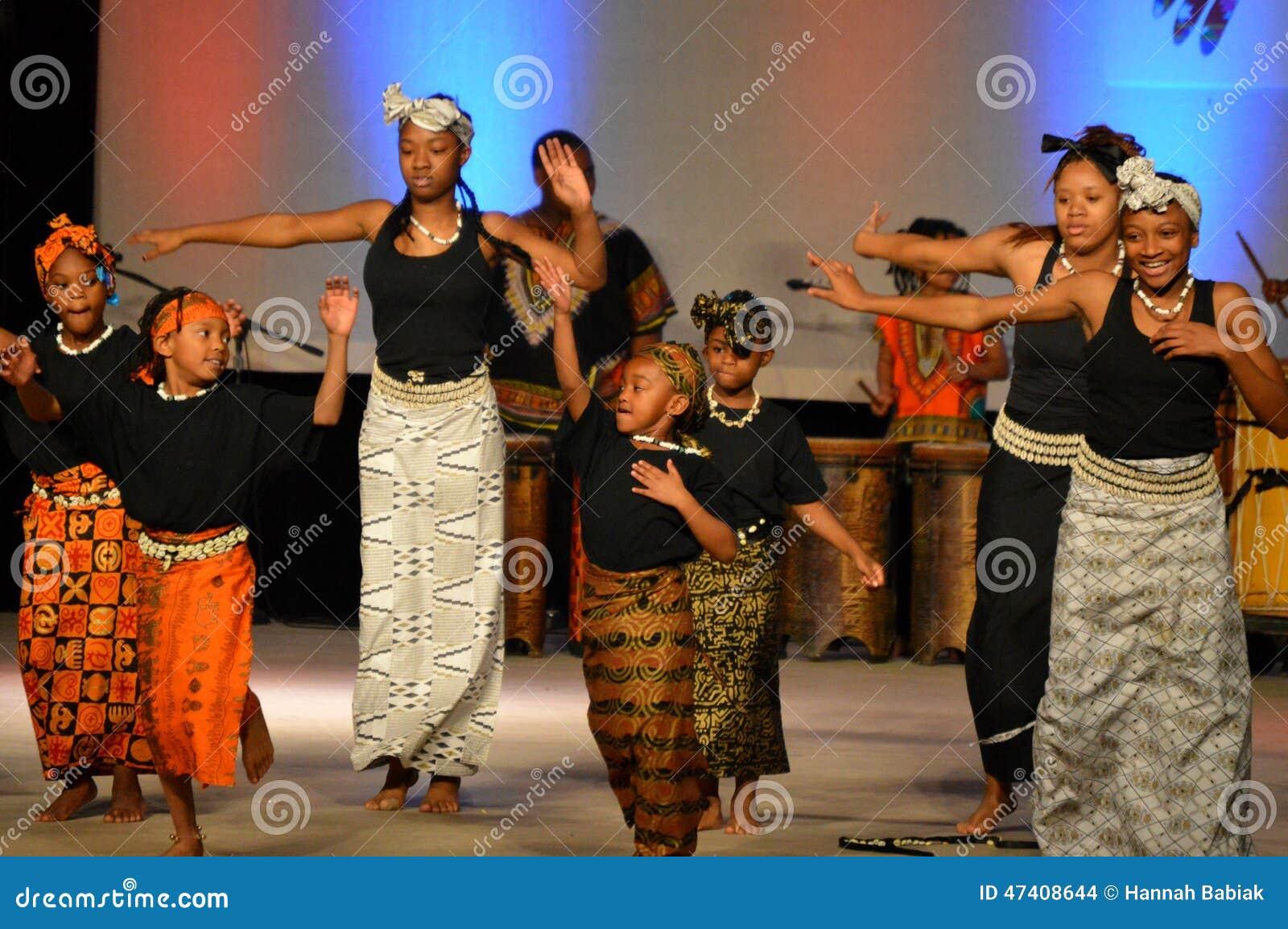 Danseurs de la jeunesse d afro-américain