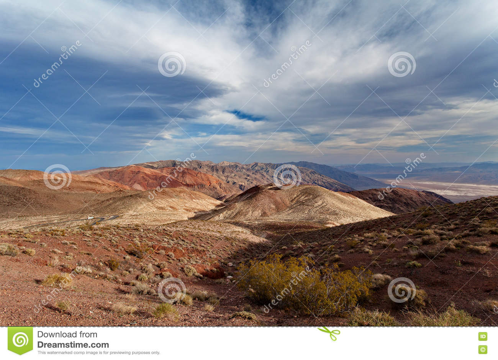 Dante& x27; s-Ansicht bei Sonnenuntergang - Nationalpark Death Valley