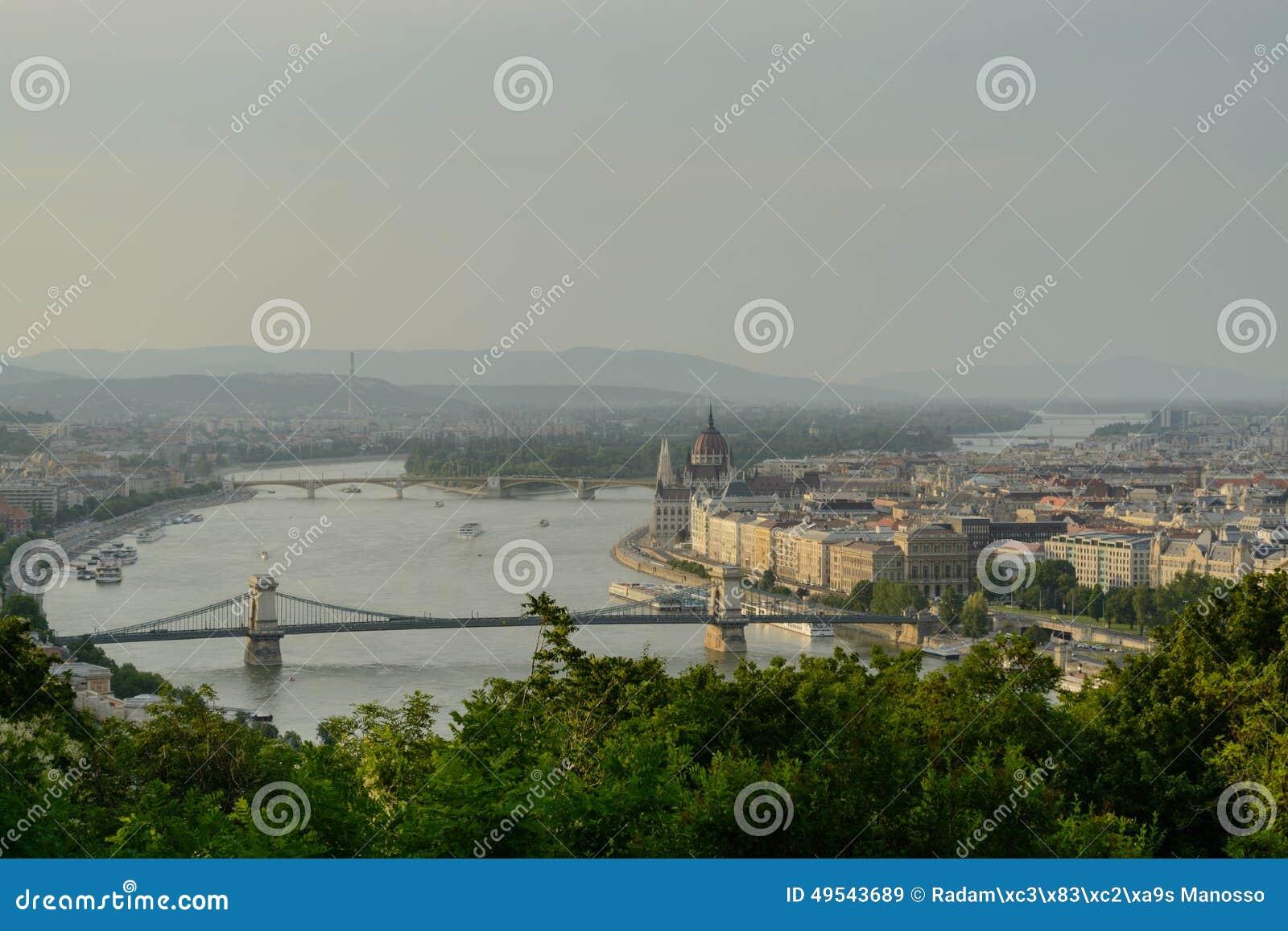Danube river crossing Budapest
