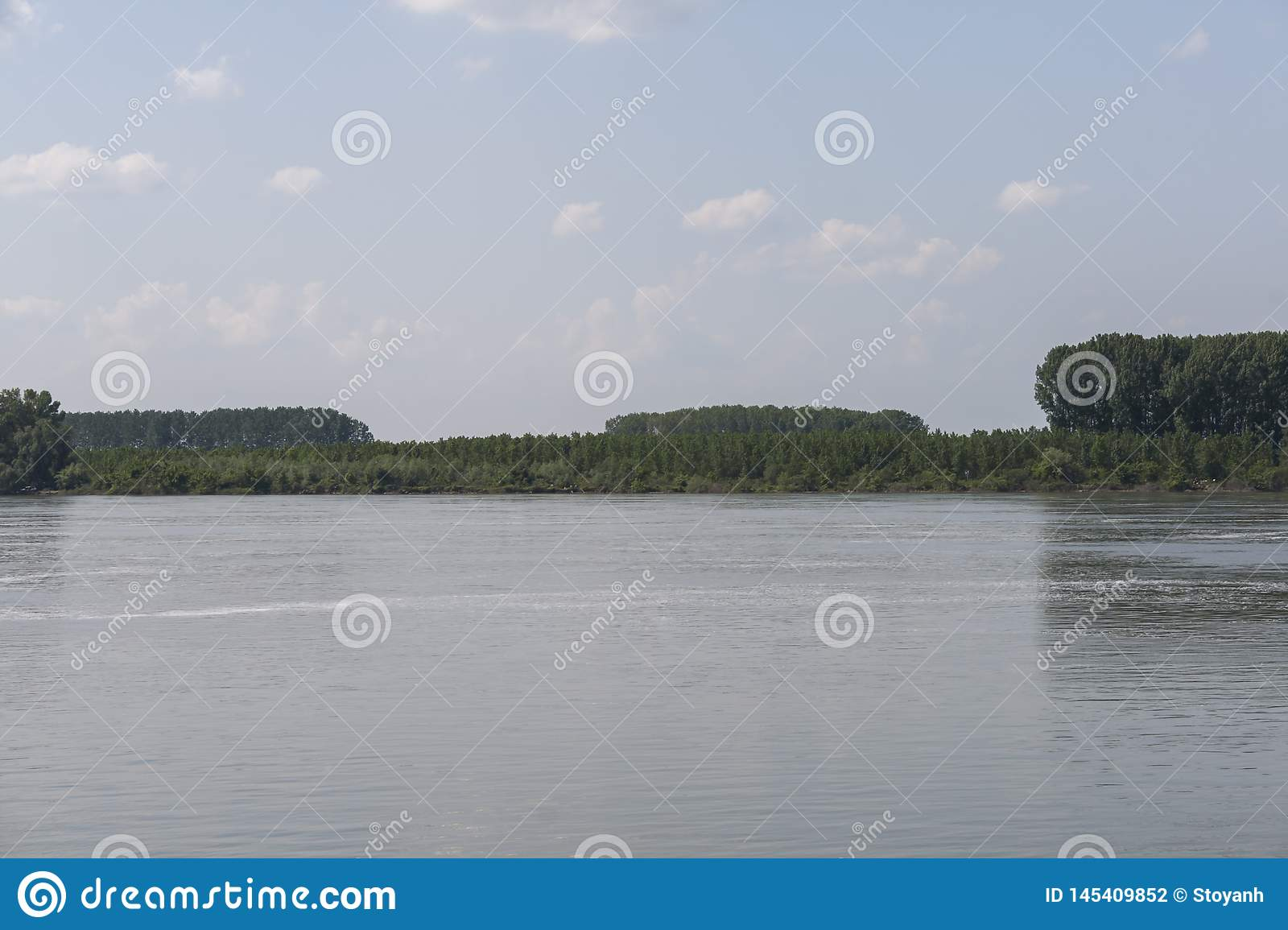 Danube River, passing through the town of Silistra, Bulgaria