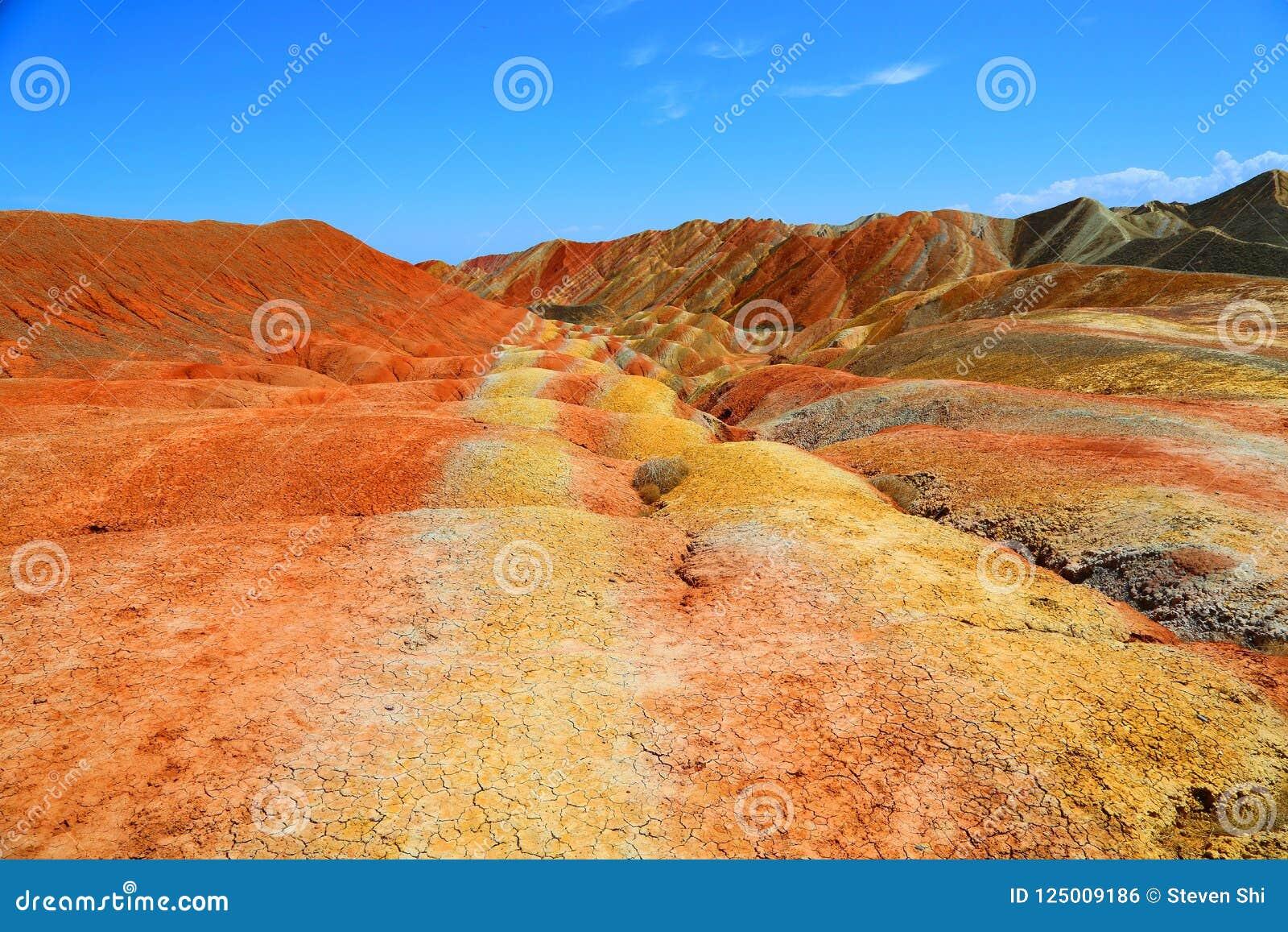 Danxia Geological park, Zhangye, Gansu prowincja, Chiny