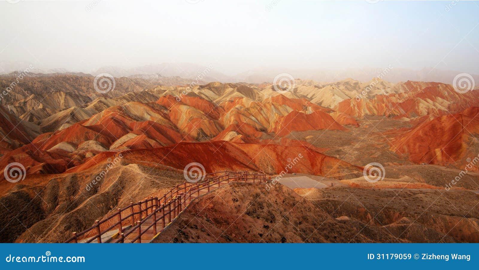 Danxia landform w Zhangye, Gansu Chiny