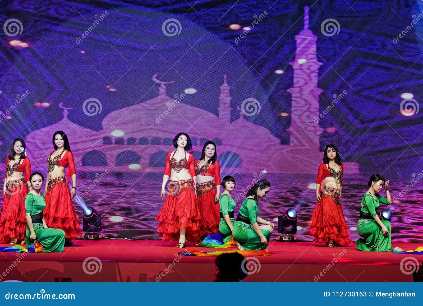 Danza de vientre collar-turca del estilo de la perla y del jade