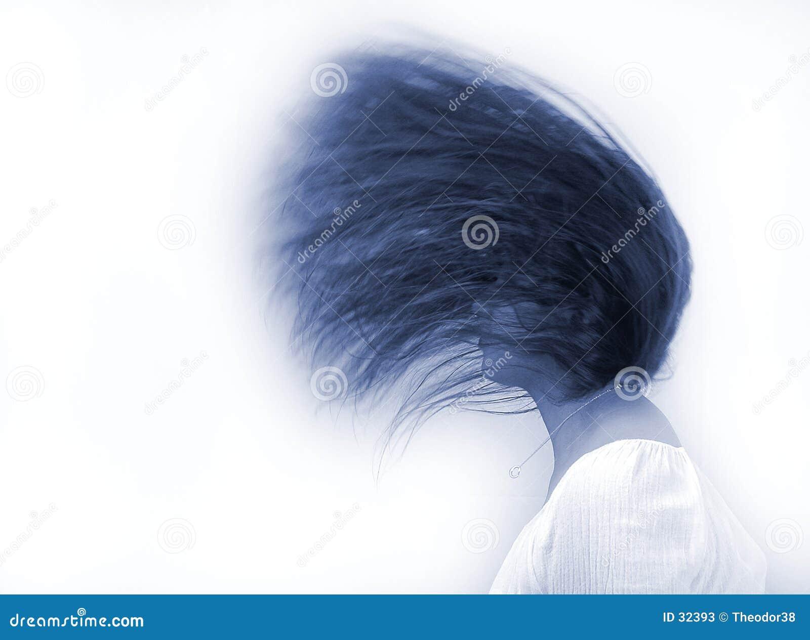 Download Danza del pelo imagen de archivo. Imagen de vacío, expresión - 32393