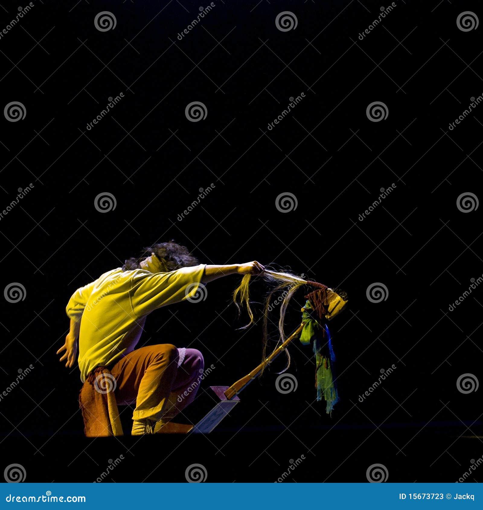 Danza a solas de la gente china