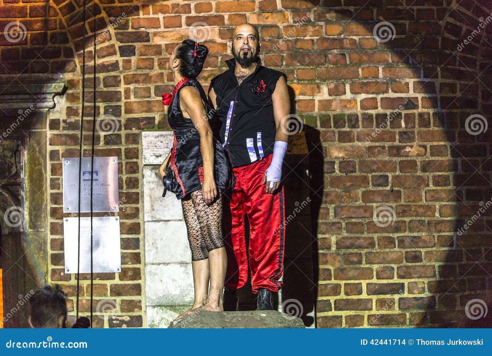 Danza vertical del teatro de la calle