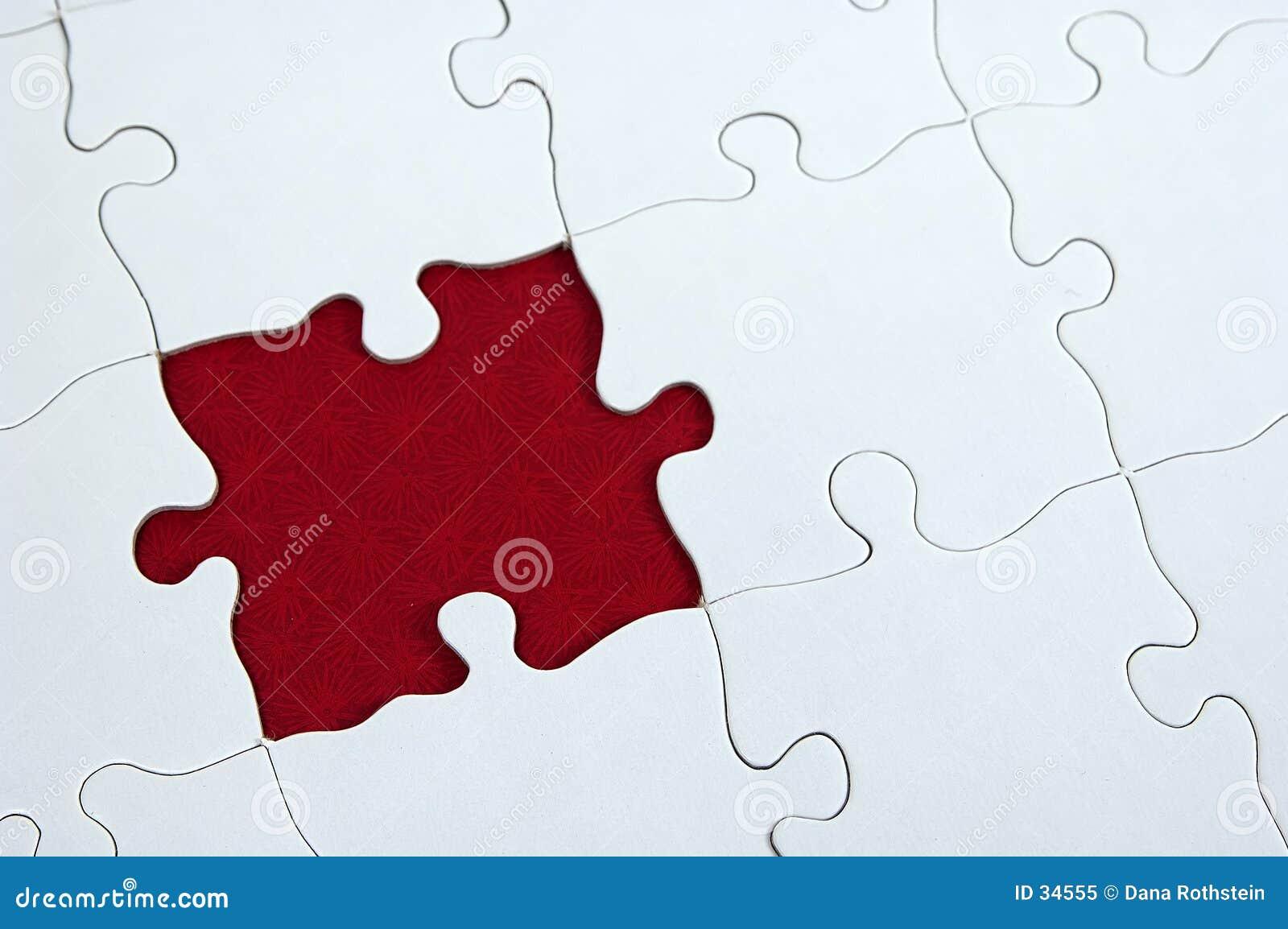 Dar puzzle czerwony