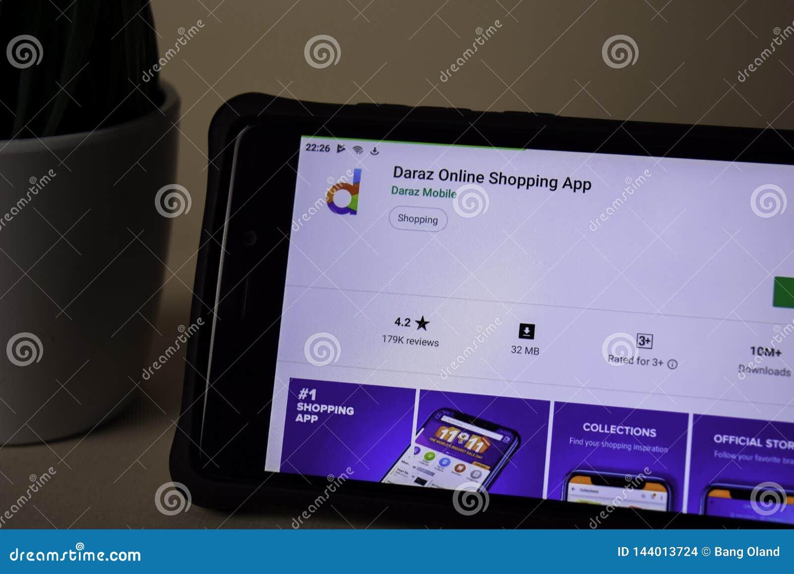 Daraz dev zastosowanie na Smartphone ekranie Online zakupy jest freeware sieci?