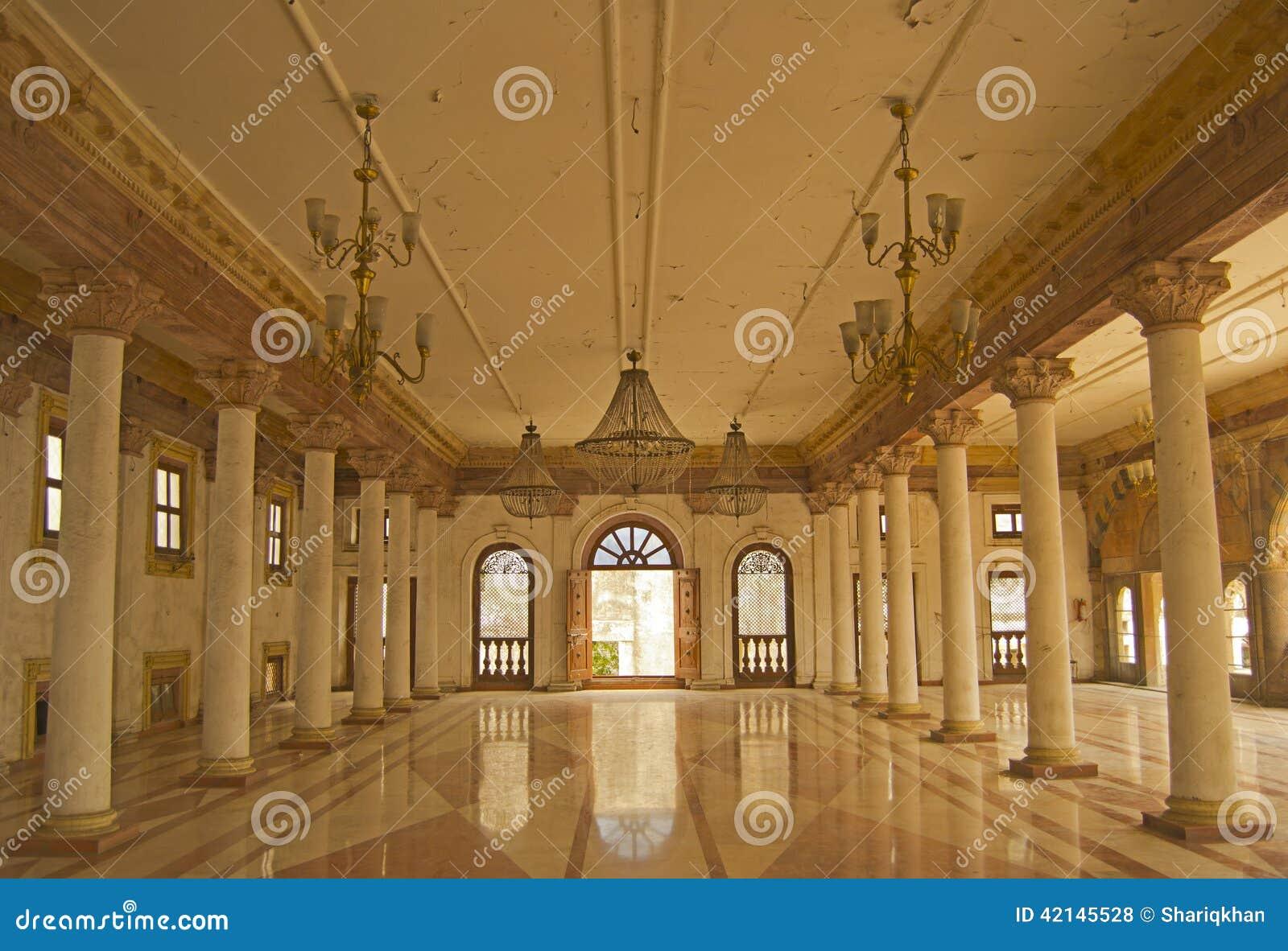 Darbar Hall av historiska Royal Palace av Indore