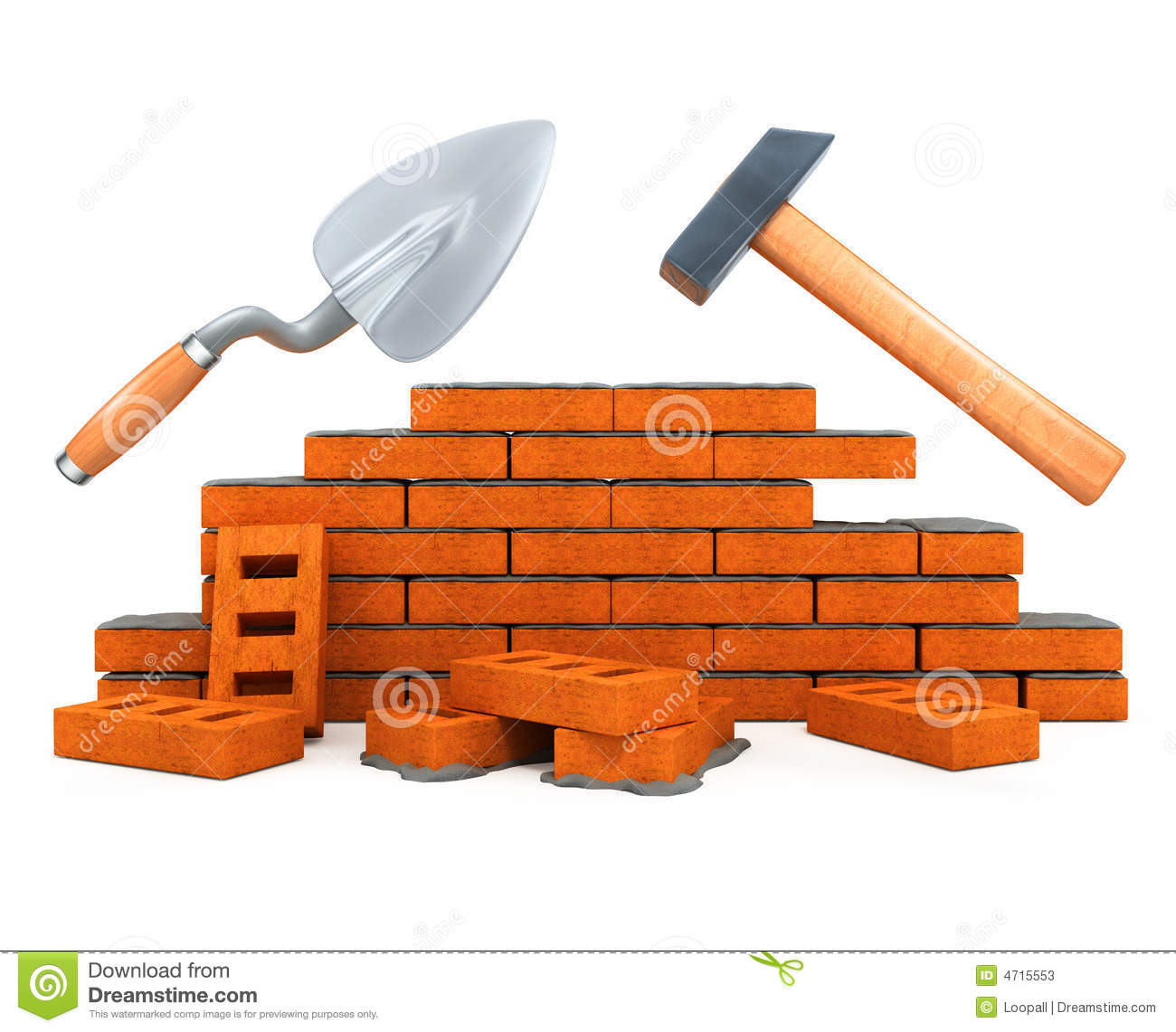 Darby And Hammer Building Tool House Construction Stock