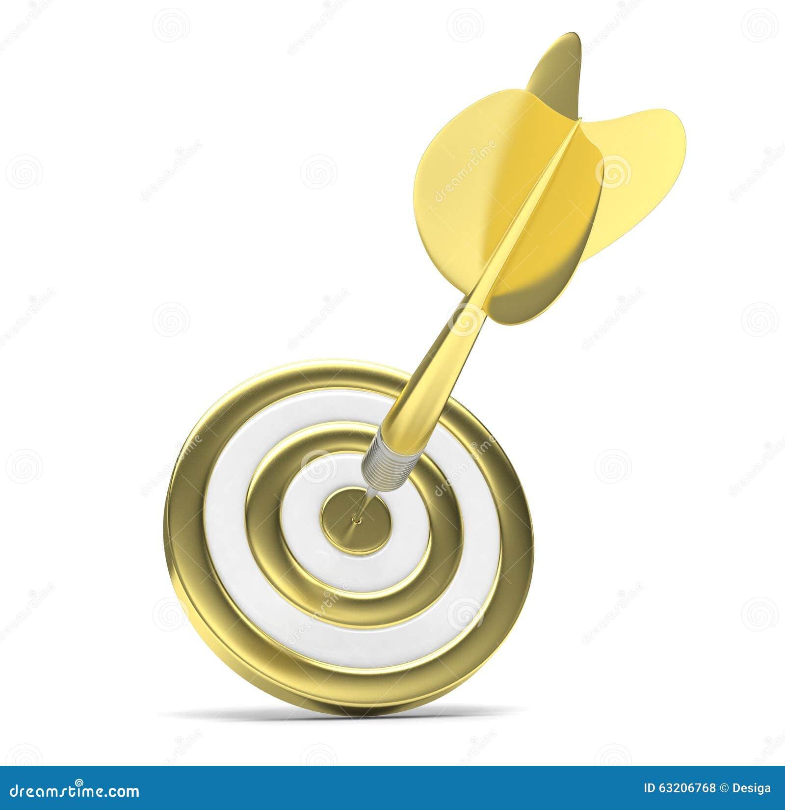 Dardos de la flecha en blanco