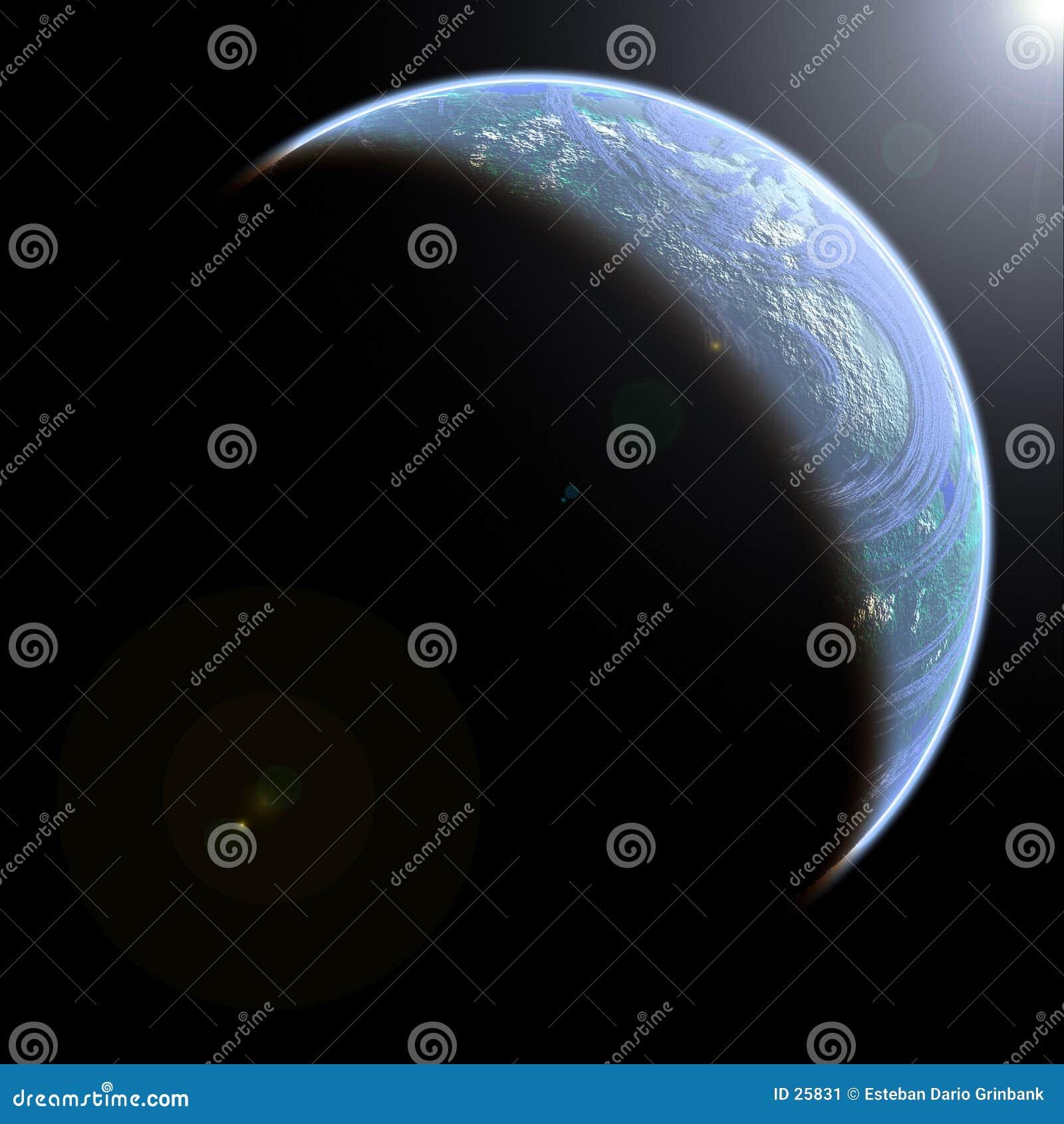 Dargestellte Erde