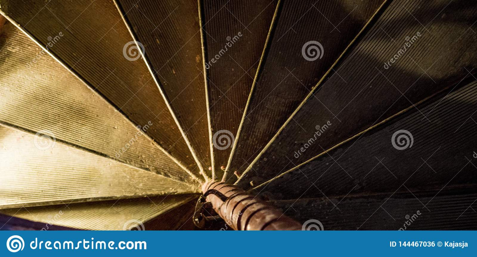 Dark abstract background helical Spiral staircase stairs