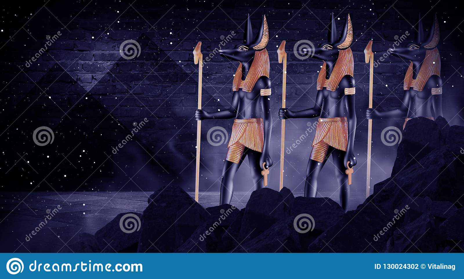 Dark abstract Egyptian background
