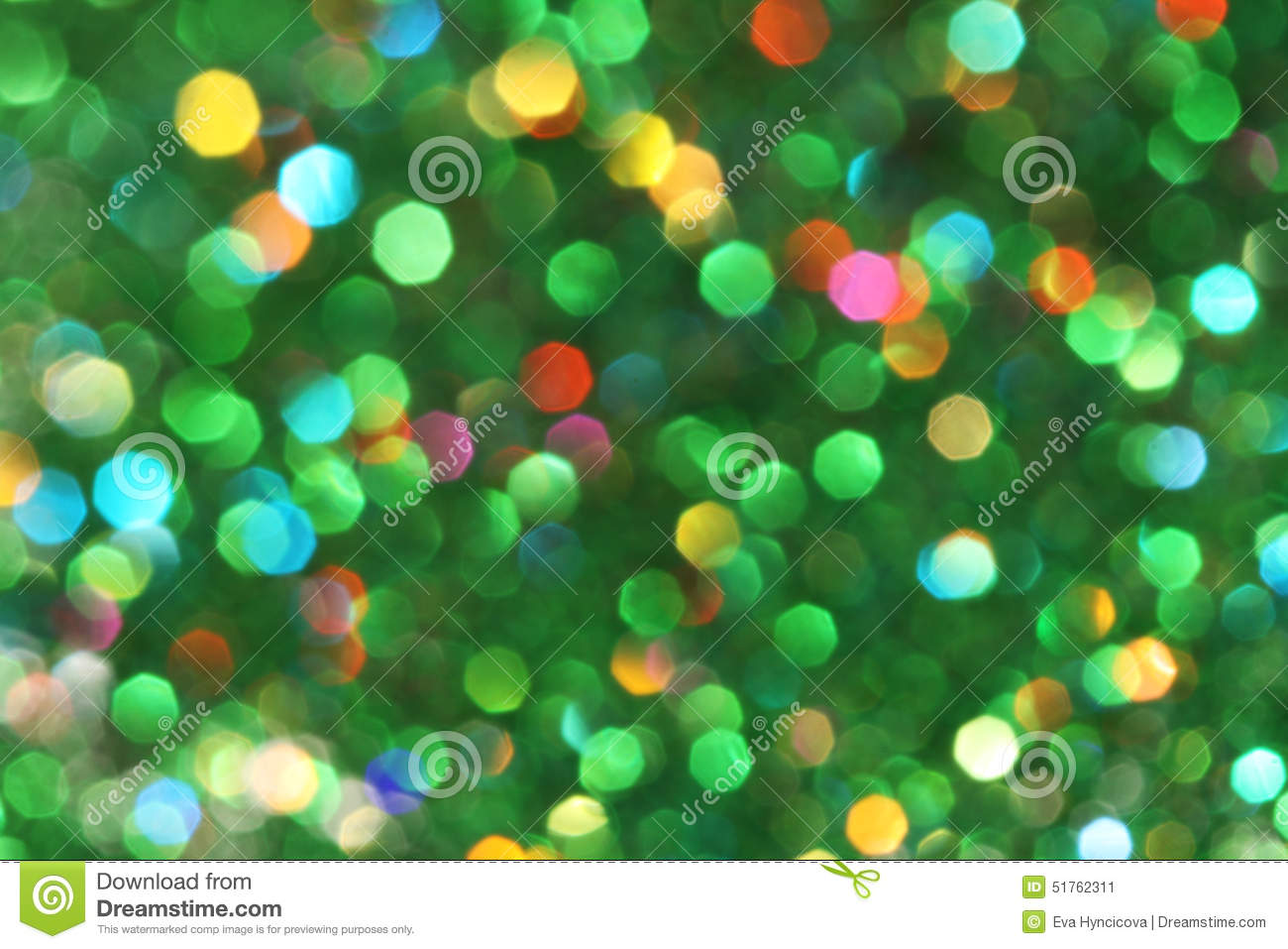 Dark abstract green, red, yellow, turquoise glitter background christmas tree-abstract background