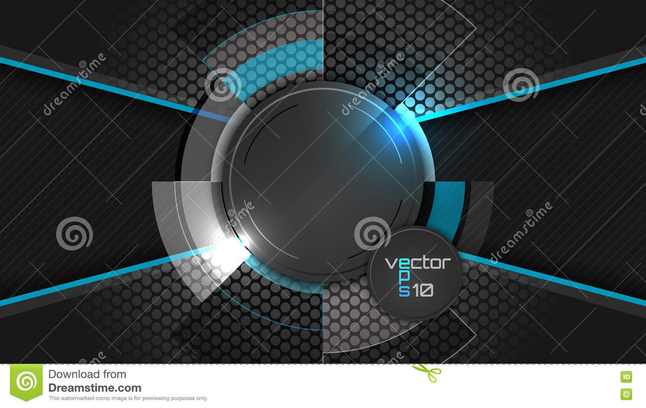 Dark Abstract Wallpaper With Circle Pattern And Place For