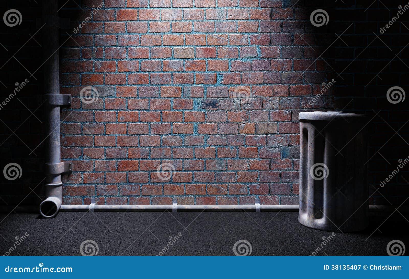 Dark Alley Stock Illustration Illustration Of Background
