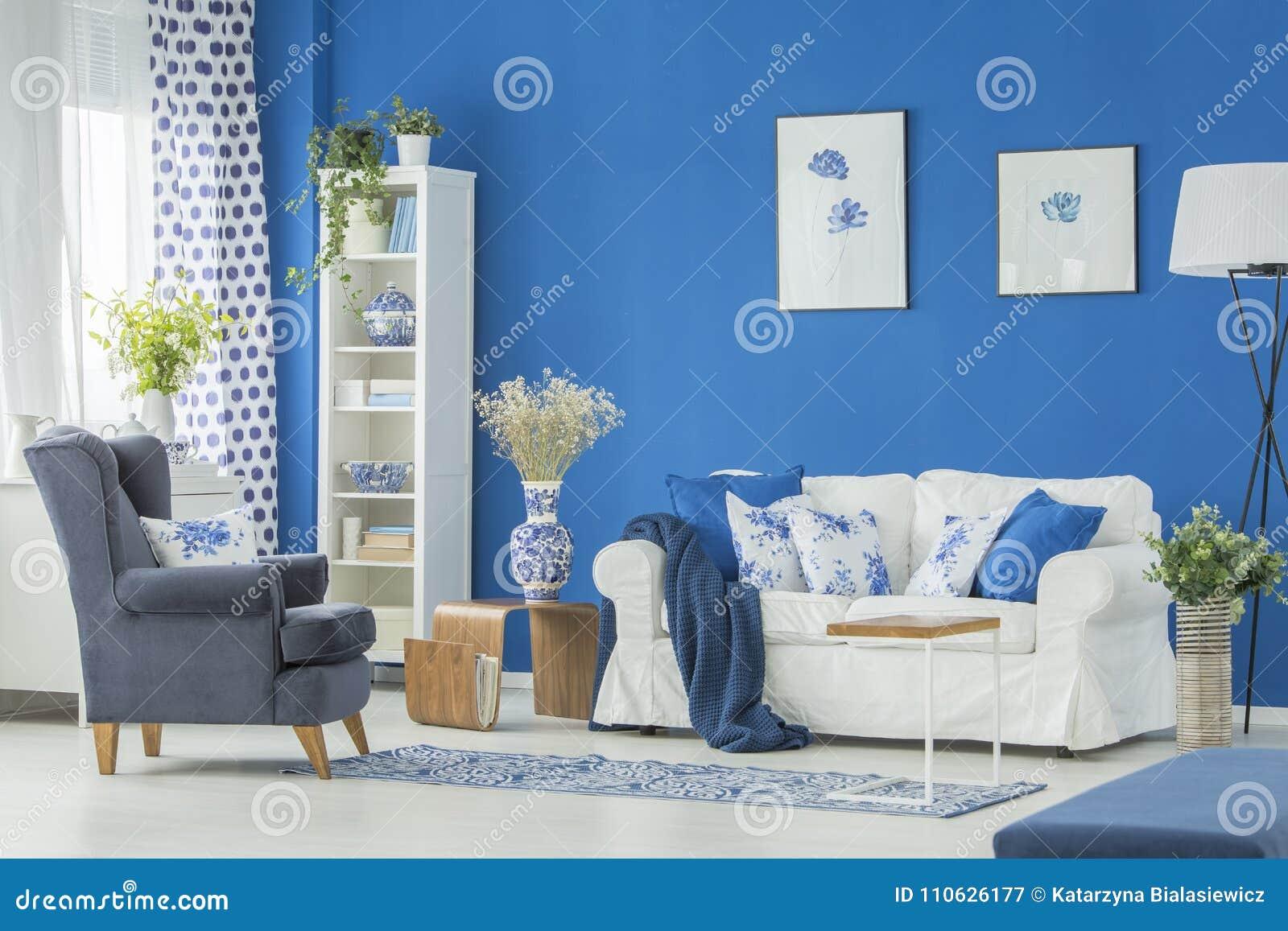 Awe Inspiring Dark Armchair In Living Room Stock Image Image Of Blue Evergreenethics Interior Chair Design Evergreenethicsorg